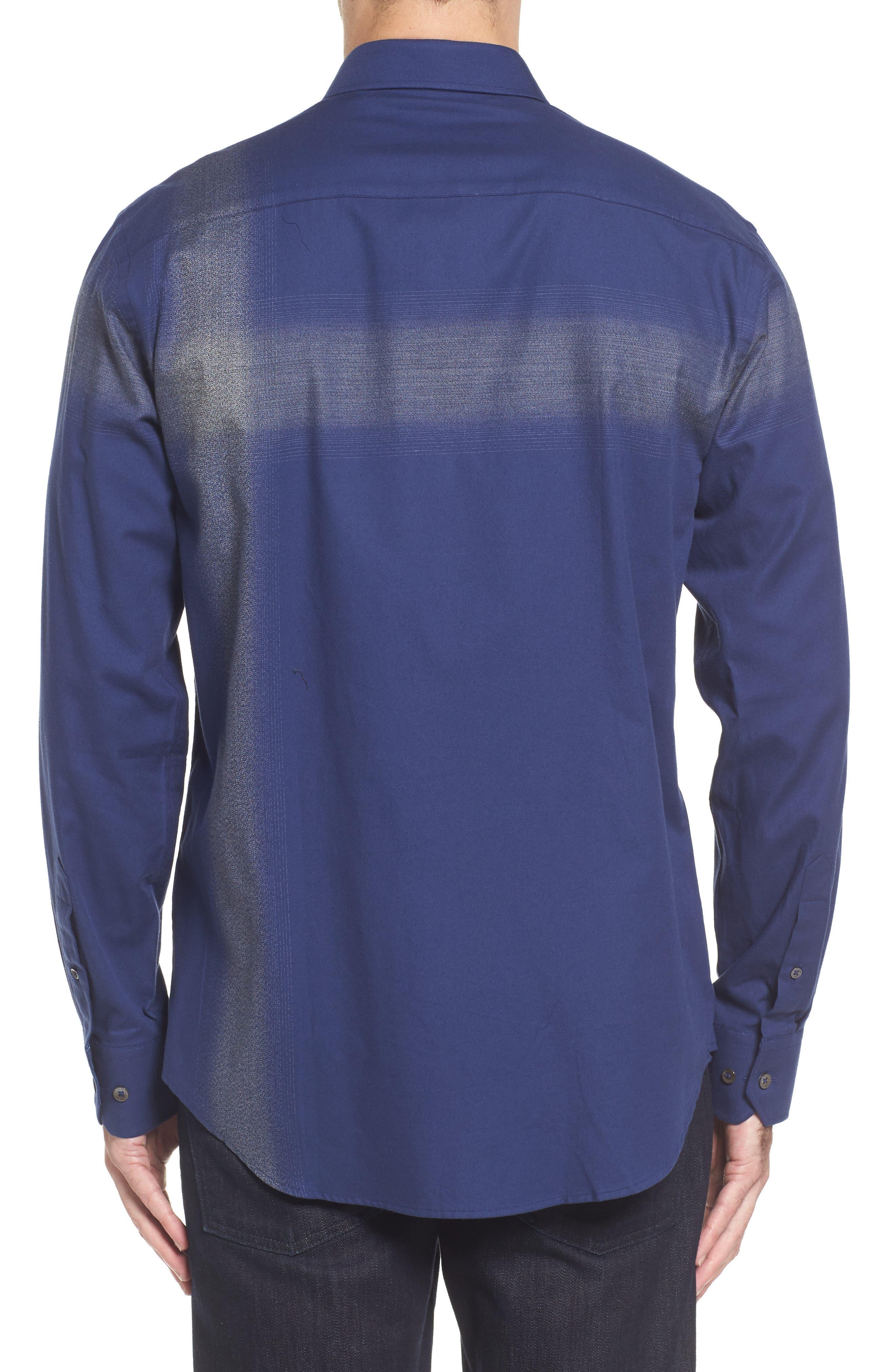 Classic Fit Ombré Stripe Sport Shirt,                             Alternate thumbnail 2, color,                             411