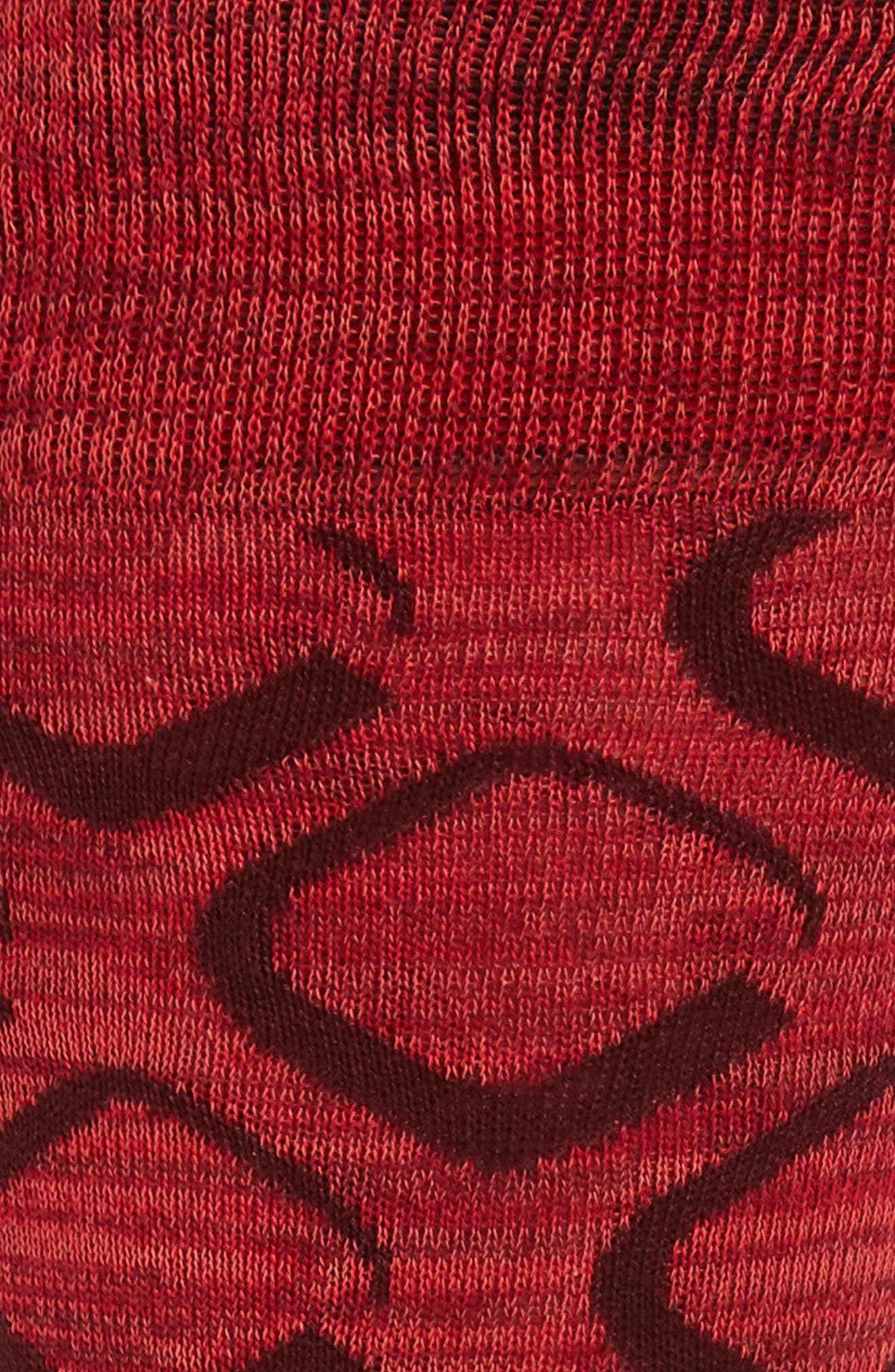 Geometric Socks,                             Alternate thumbnail 2, color,                             CORAL