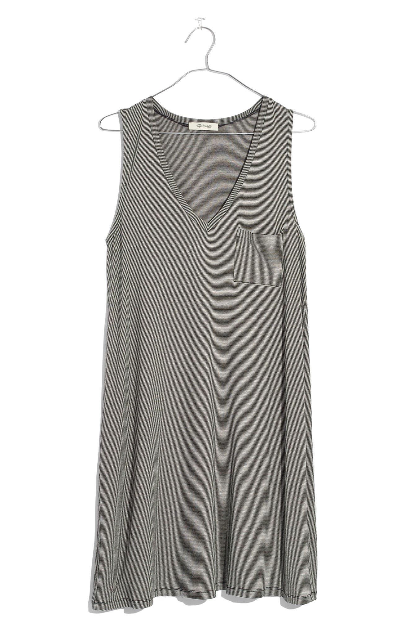 Stripe Swingy Tank Dress,                             Alternate thumbnail 3, color,                             100