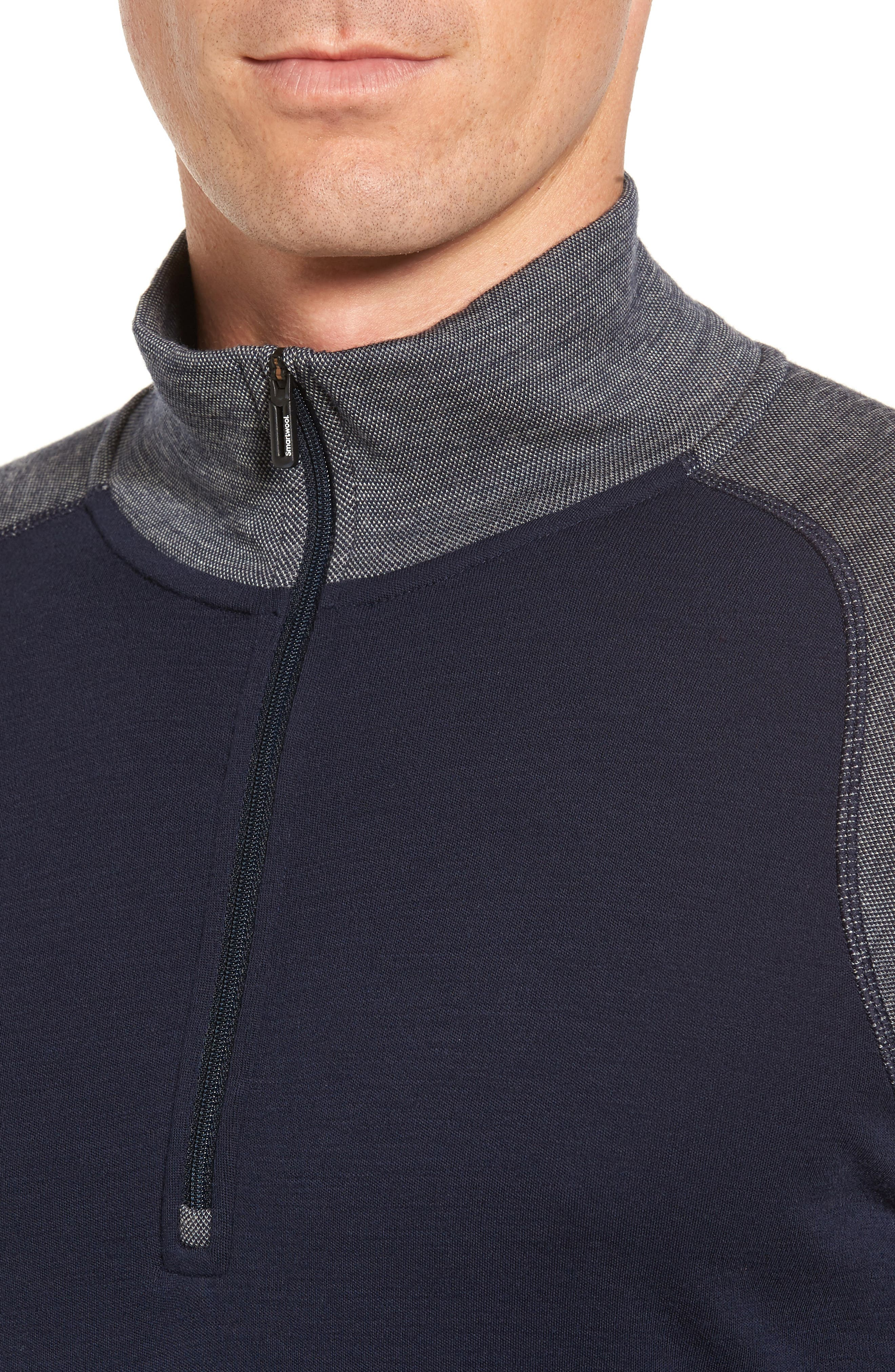 Merino 250 Base Layer Pattern Quarter Zip Pullover,                             Alternate thumbnail 4, color,                             410