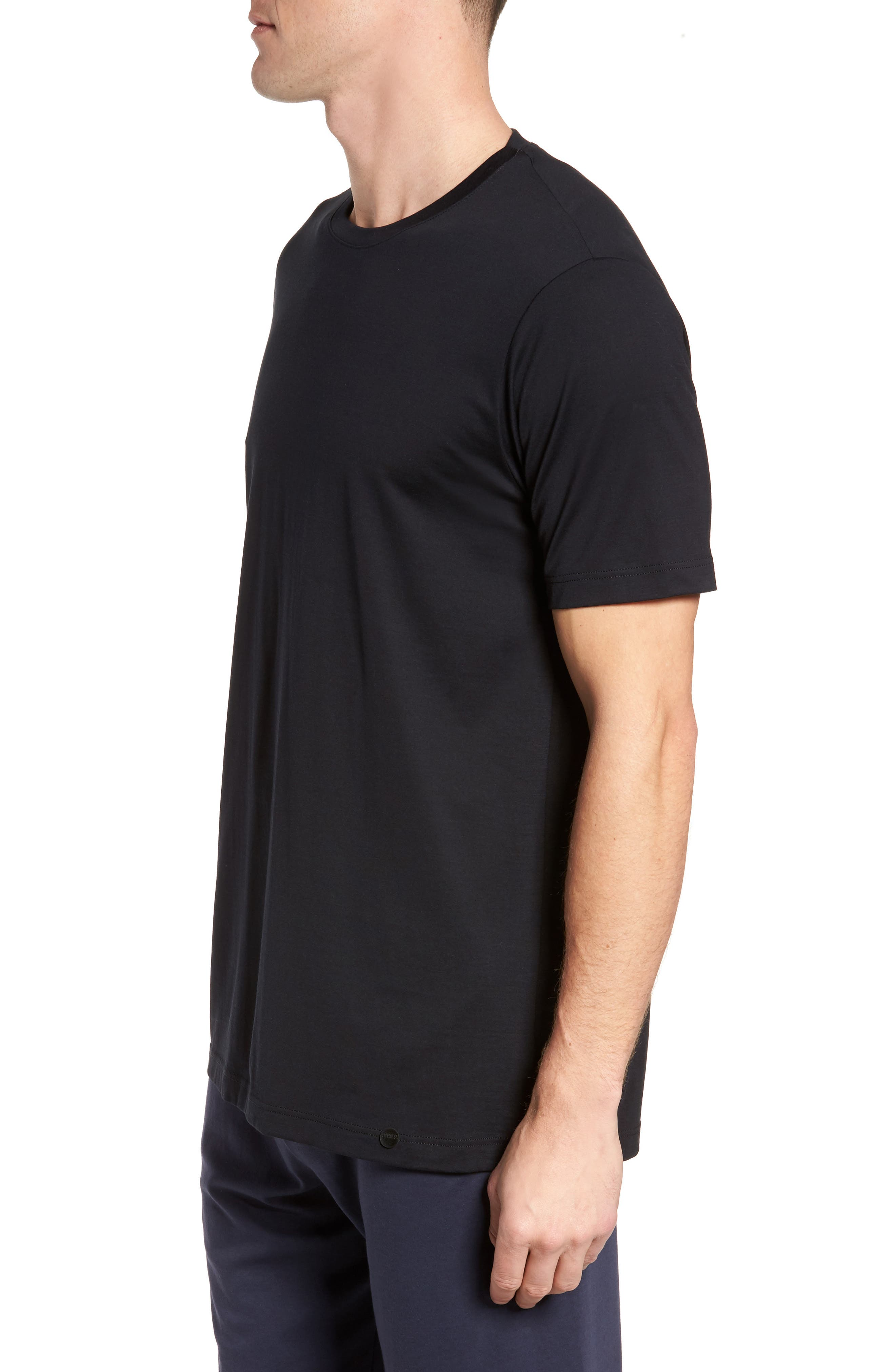 Night & Day Crewneck T-Shirt,                             Alternate thumbnail 3, color,                             BLACK