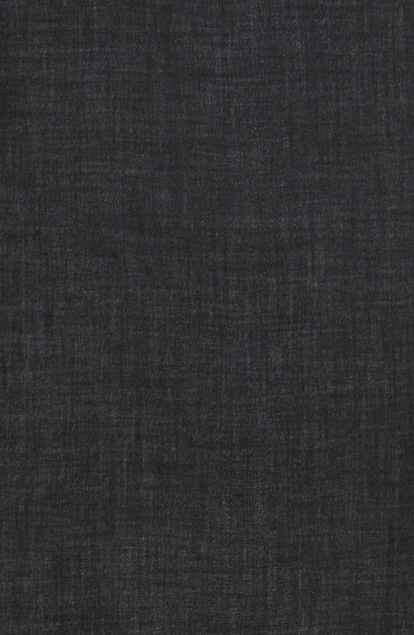 Cashmere & Silk Wrap,                             Alternate thumbnail 4, color,                             BLACK
