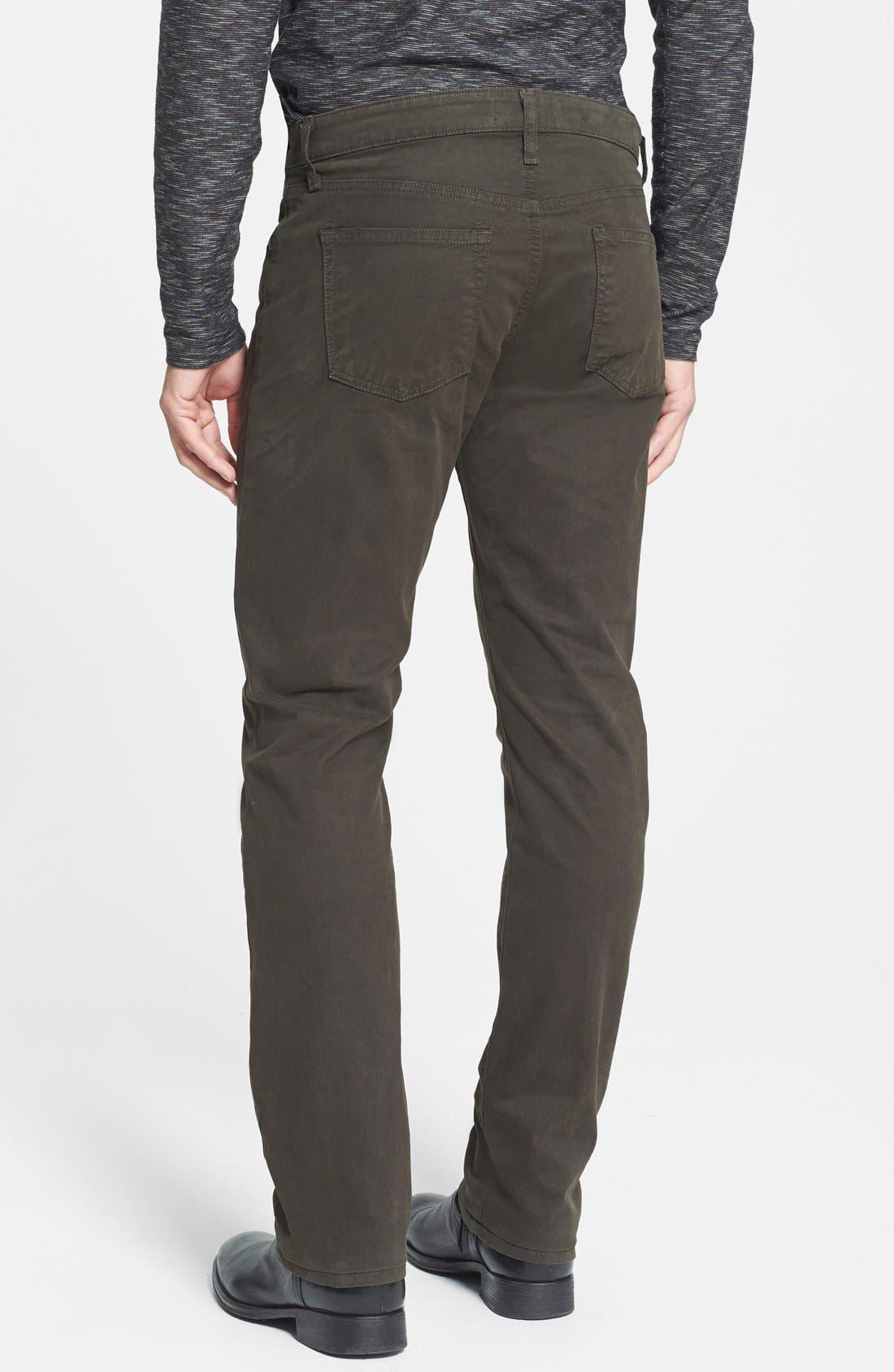 'Kane' Slim Fit Cotton Twill Pants,                             Alternate thumbnail 52, color,