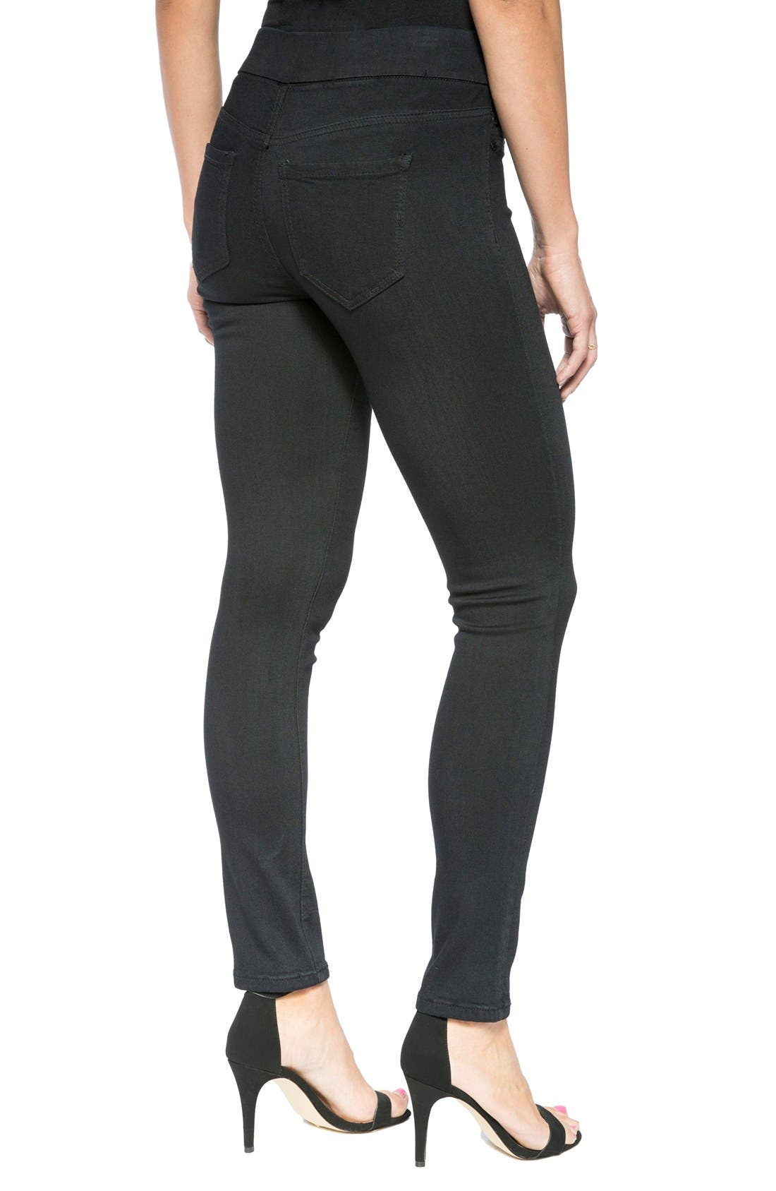 Sienna Mid Rise Soft Stretch Denim Leggings,                             Alternate thumbnail 5, color,                             008