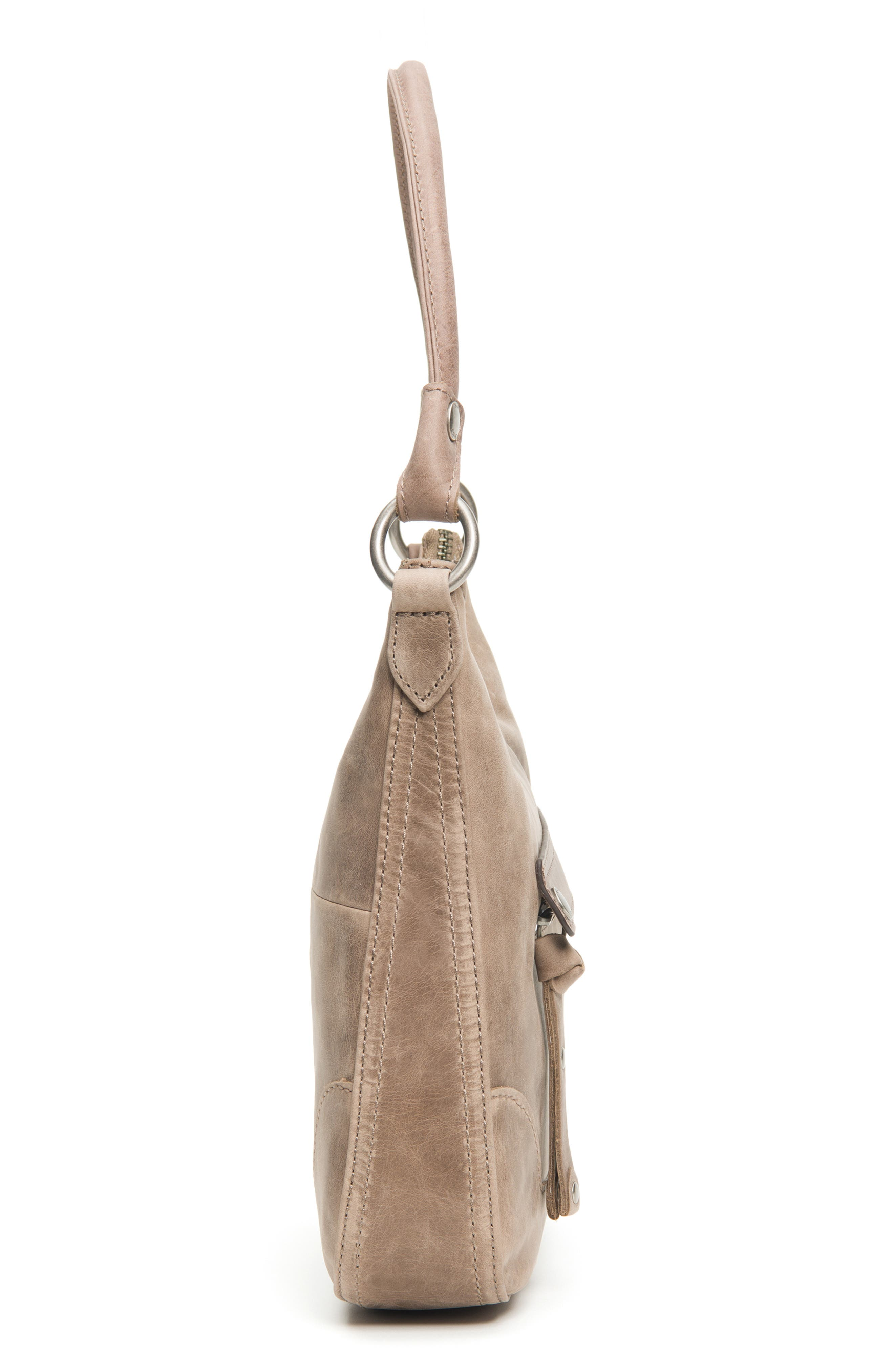 Small Melissa Leather Hobo Bag,                             Alternate thumbnail 5, color,                             030
