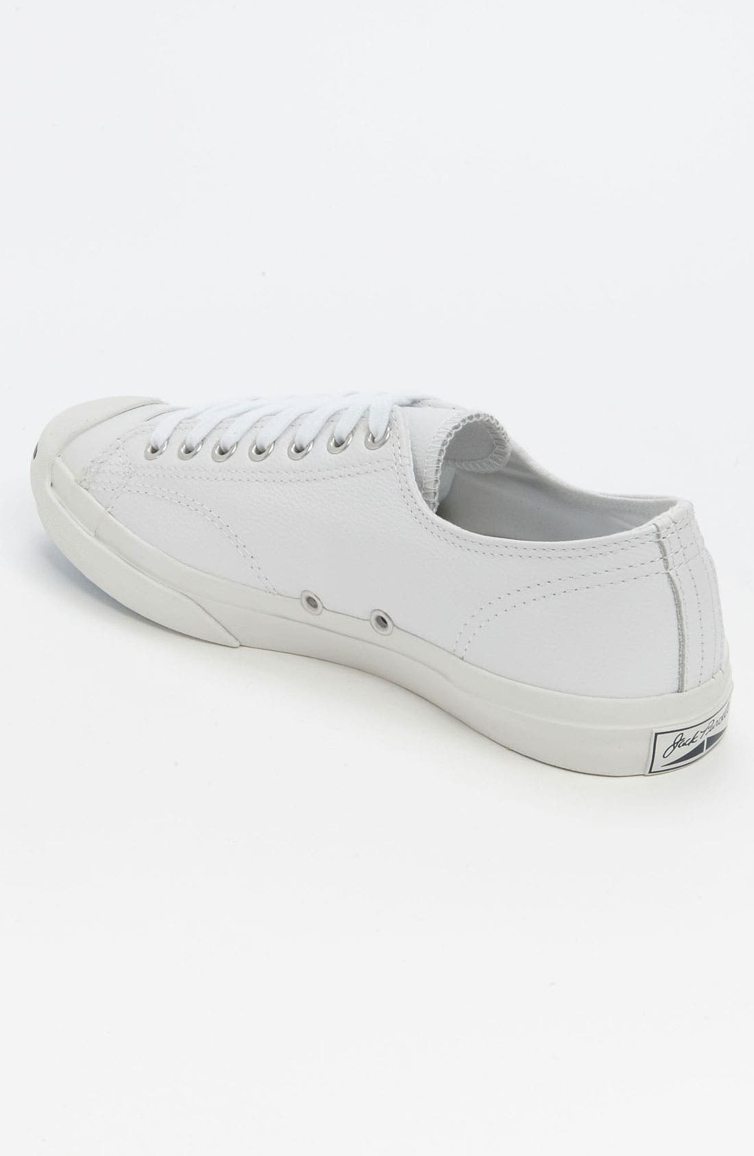 'Jack Purcell' Leather Sneaker,                             Alternate thumbnail 9, color,                             WHITE/ NAVY