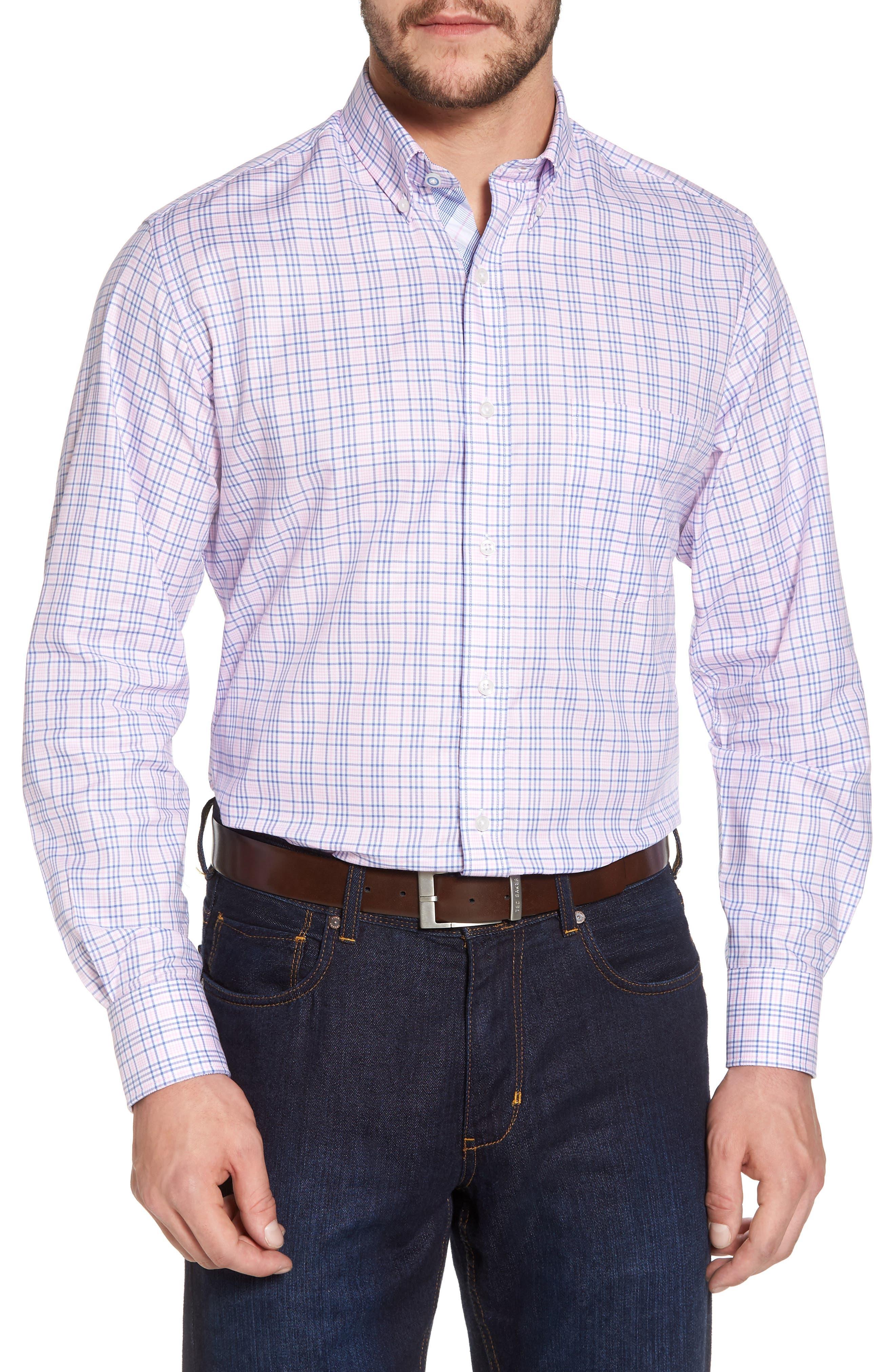 Barry Regular Fit Plaid Sport Shirt,                         Main,                         color, 650