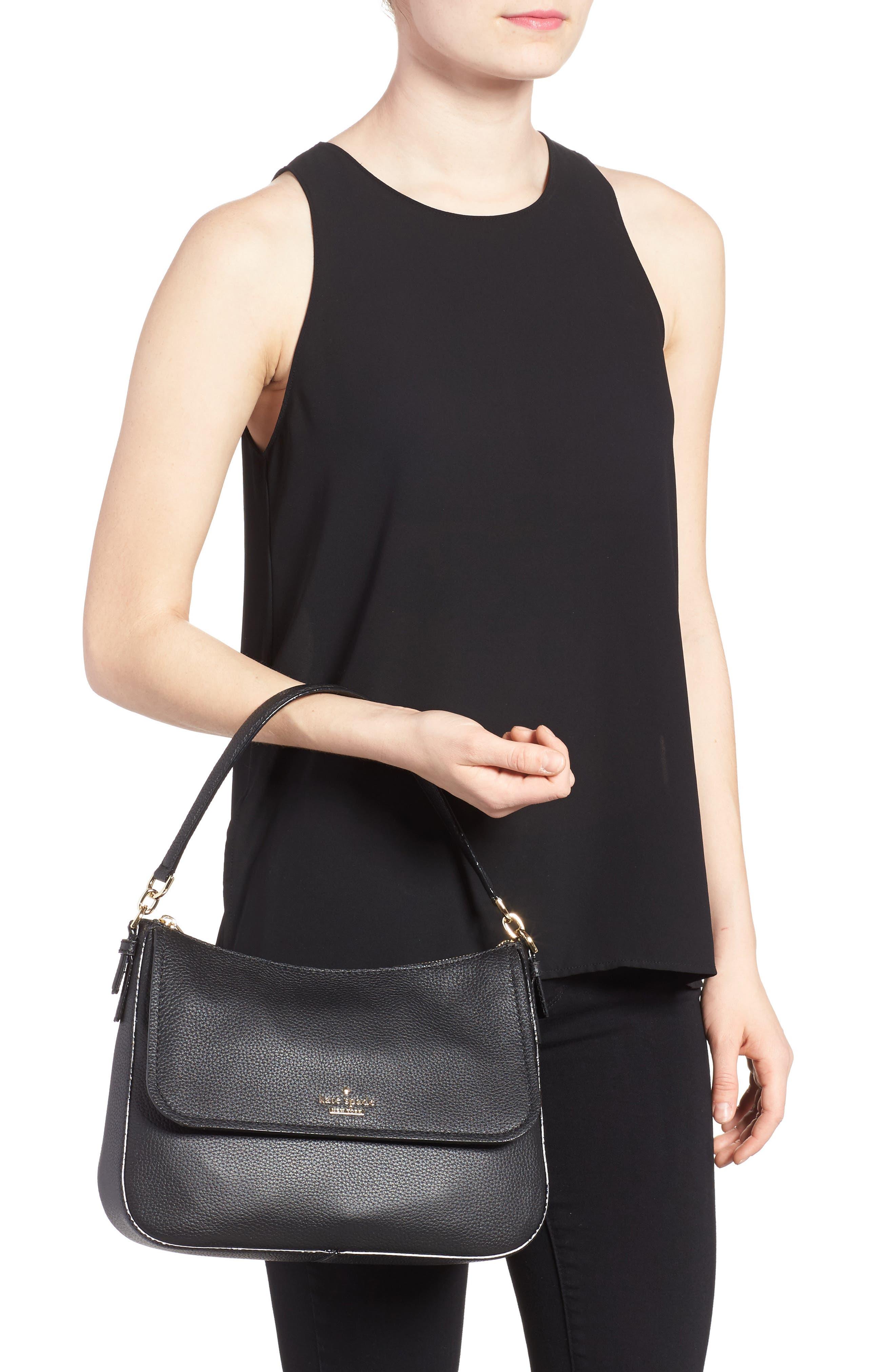 jackson street - colette leather satchel,                             Alternate thumbnail 2, color,                             BLACK