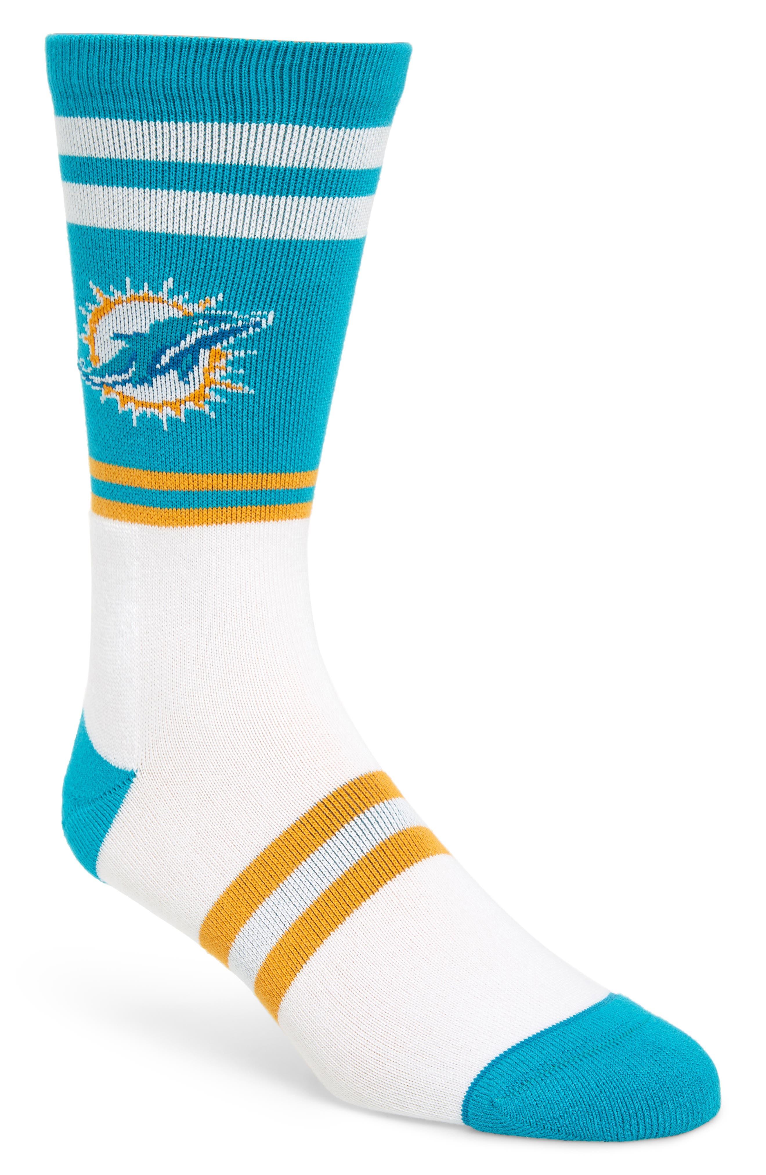 Miami Dolphins Socks,                         Main,                         color, 440