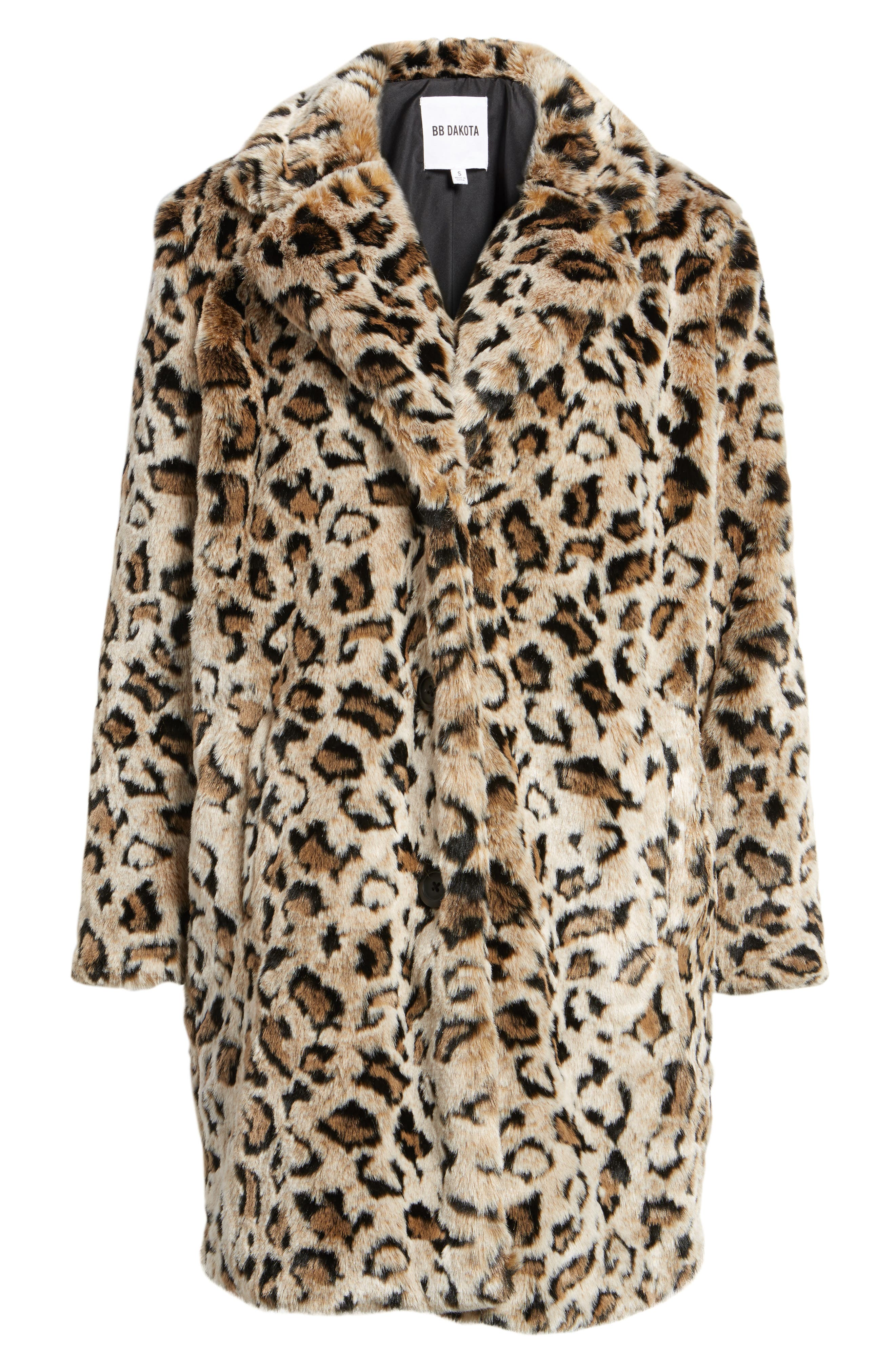 Abeni Faux Fur Coat,                             Alternate thumbnail 5, color,