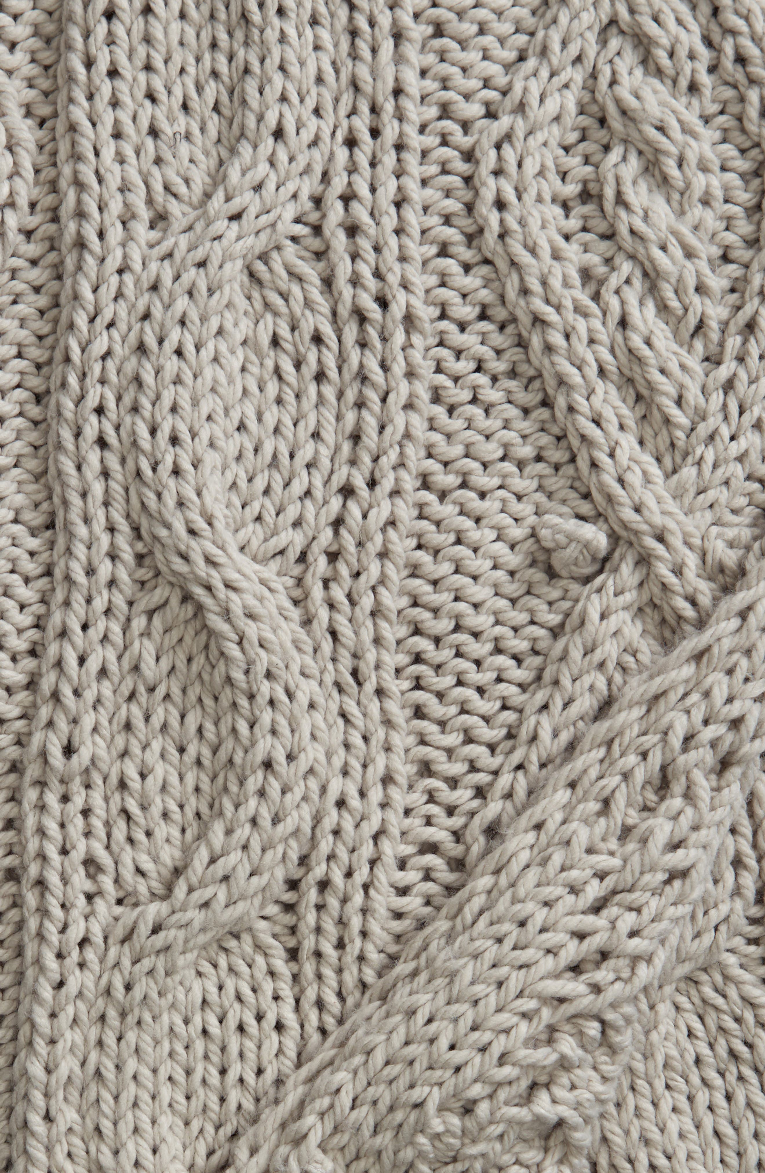 Chunky Cable Knit Throw Blanket,                             Alternate thumbnail 2, color,                             020