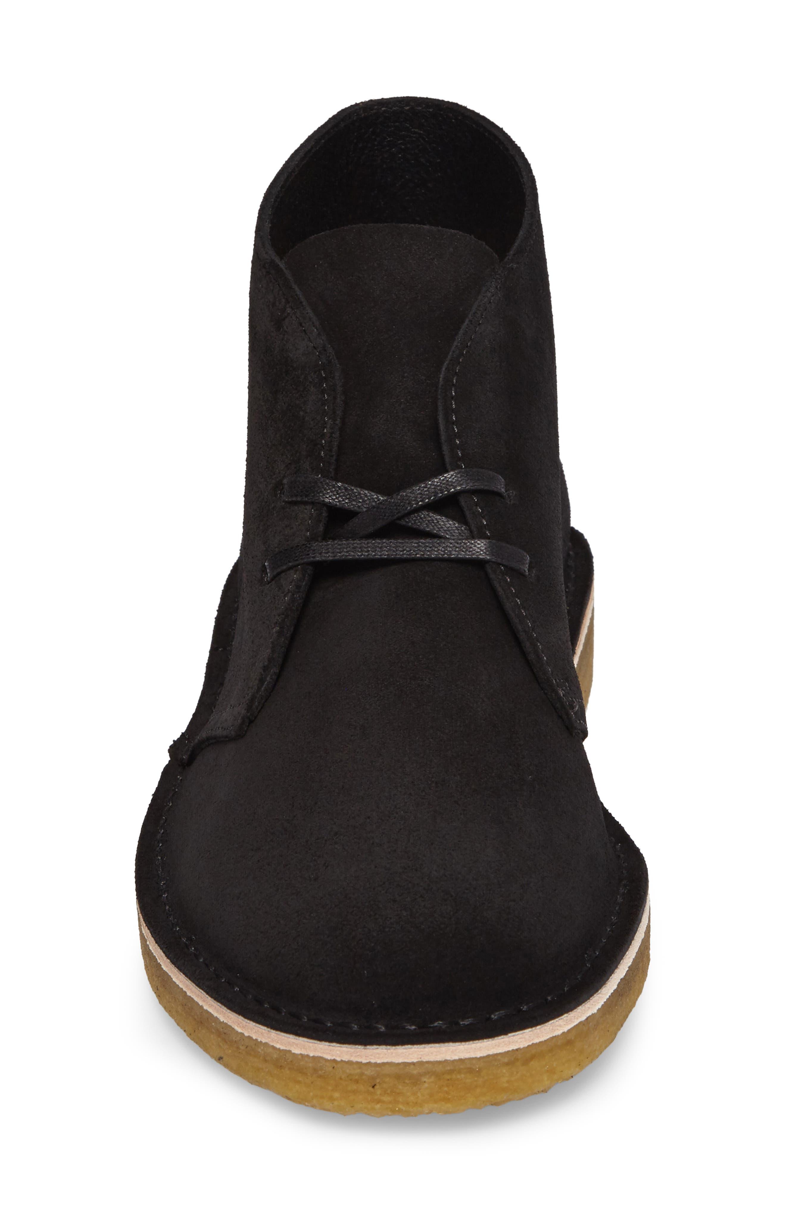 Desert Chukka Boot,                             Alternate thumbnail 4, color,                             BLACK SUEDE