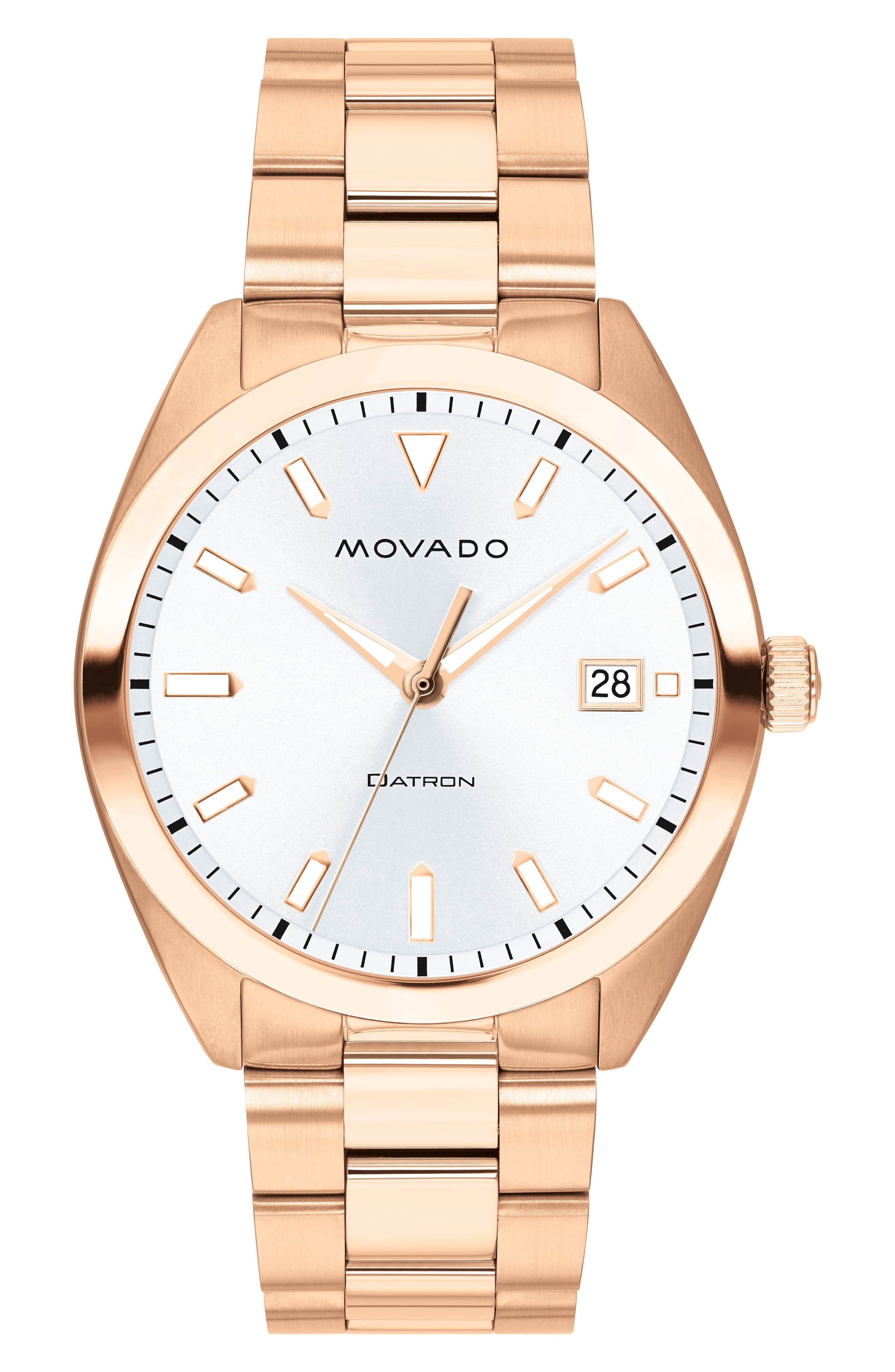 Heritage Bracelet Watch, 39mm,                             Main thumbnail 1, color,                             ROSE GOLD/ WHITE/ ROSE GOLD