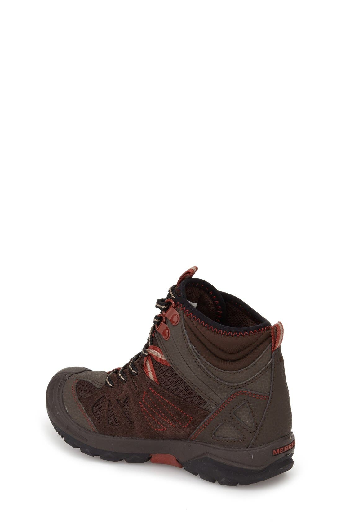'Capra' Mid Waterproof Hiking Shoe,                             Alternate thumbnail 5, color,