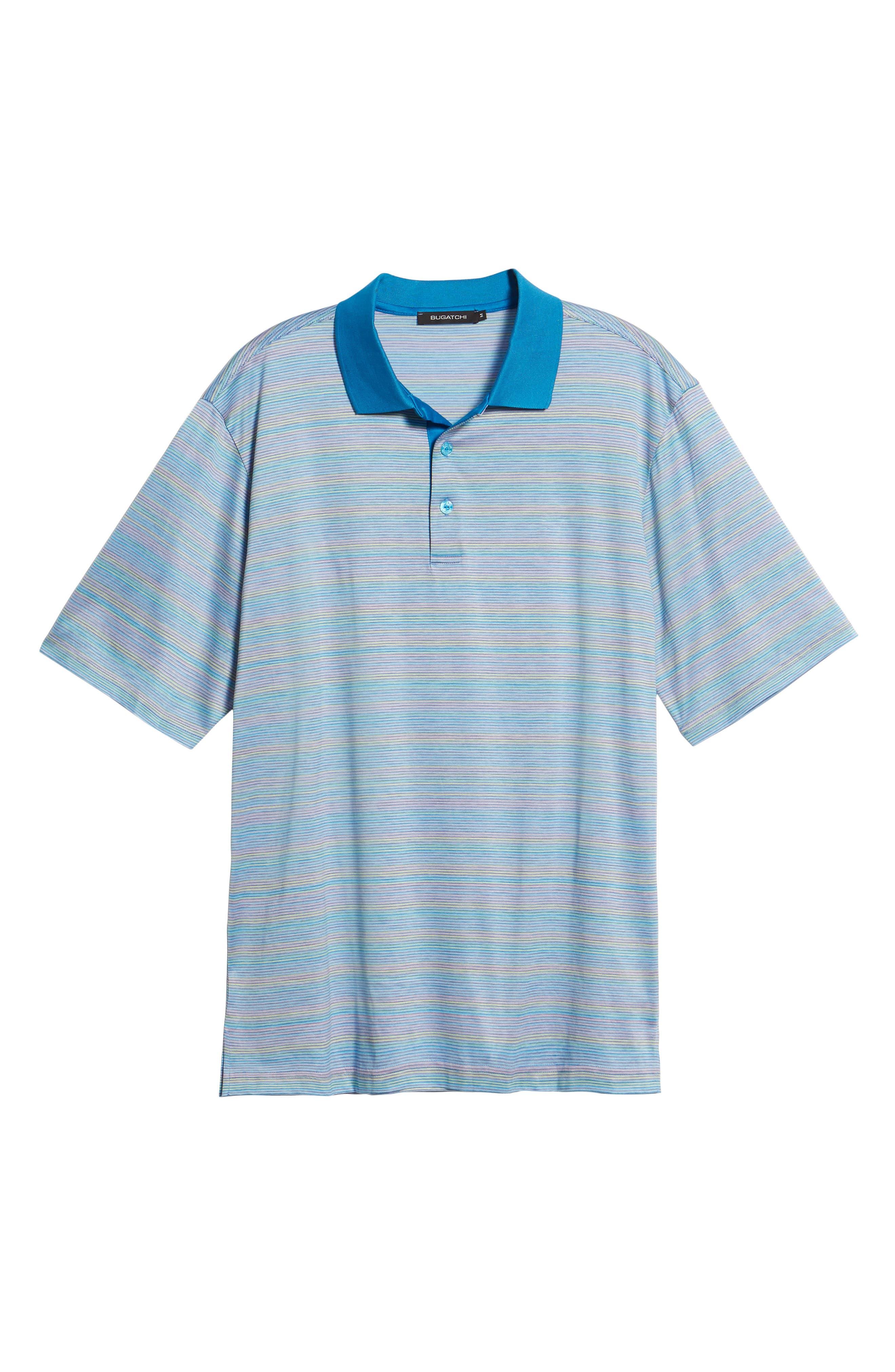 Stripe Mercerized Cotton Polo,                             Alternate thumbnail 6, color,                             LILAC