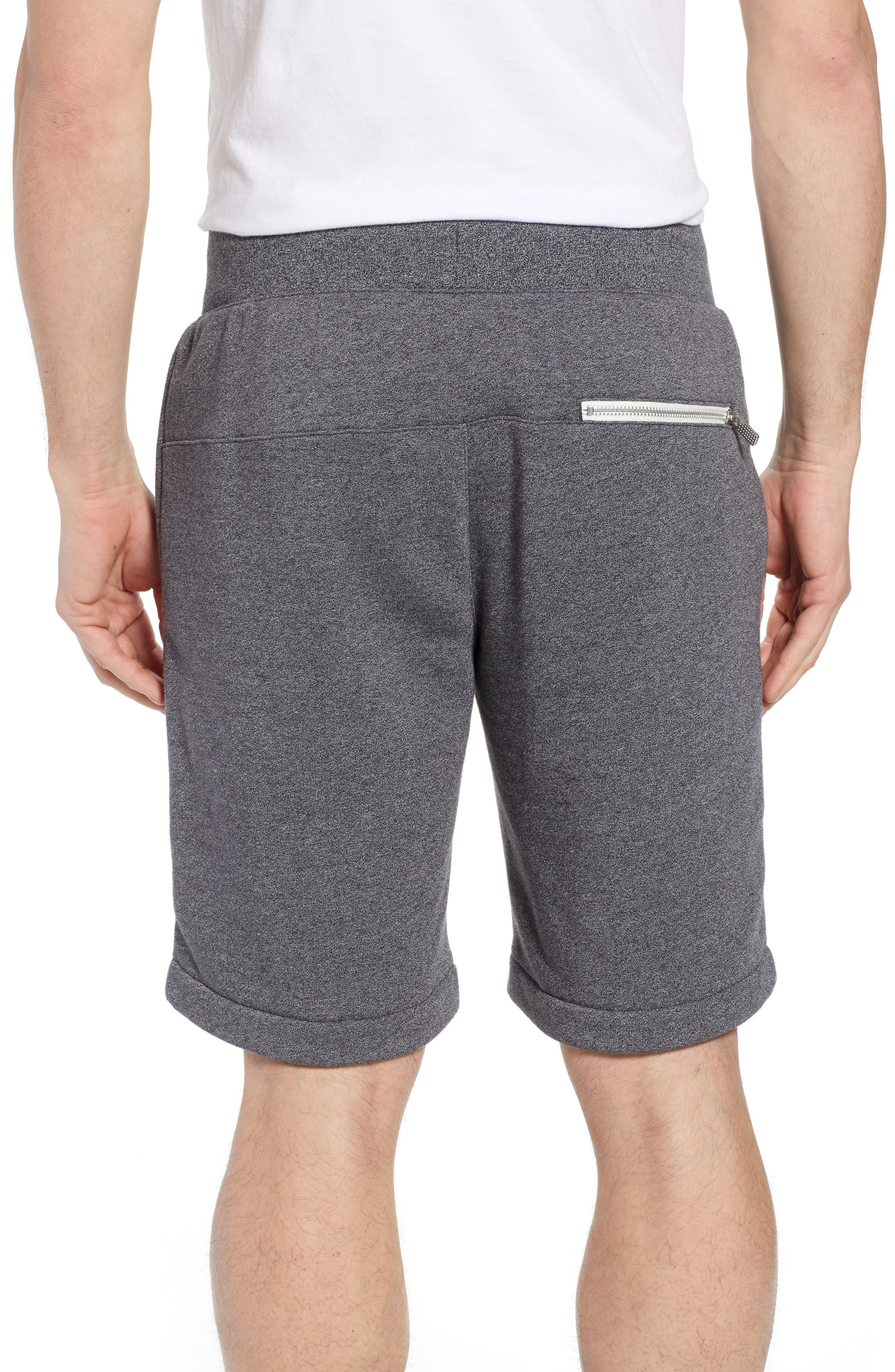 Heritage Knit Shorts,                             Alternate thumbnail 2, color,                             BLACK/ HEATHER/ SAIL