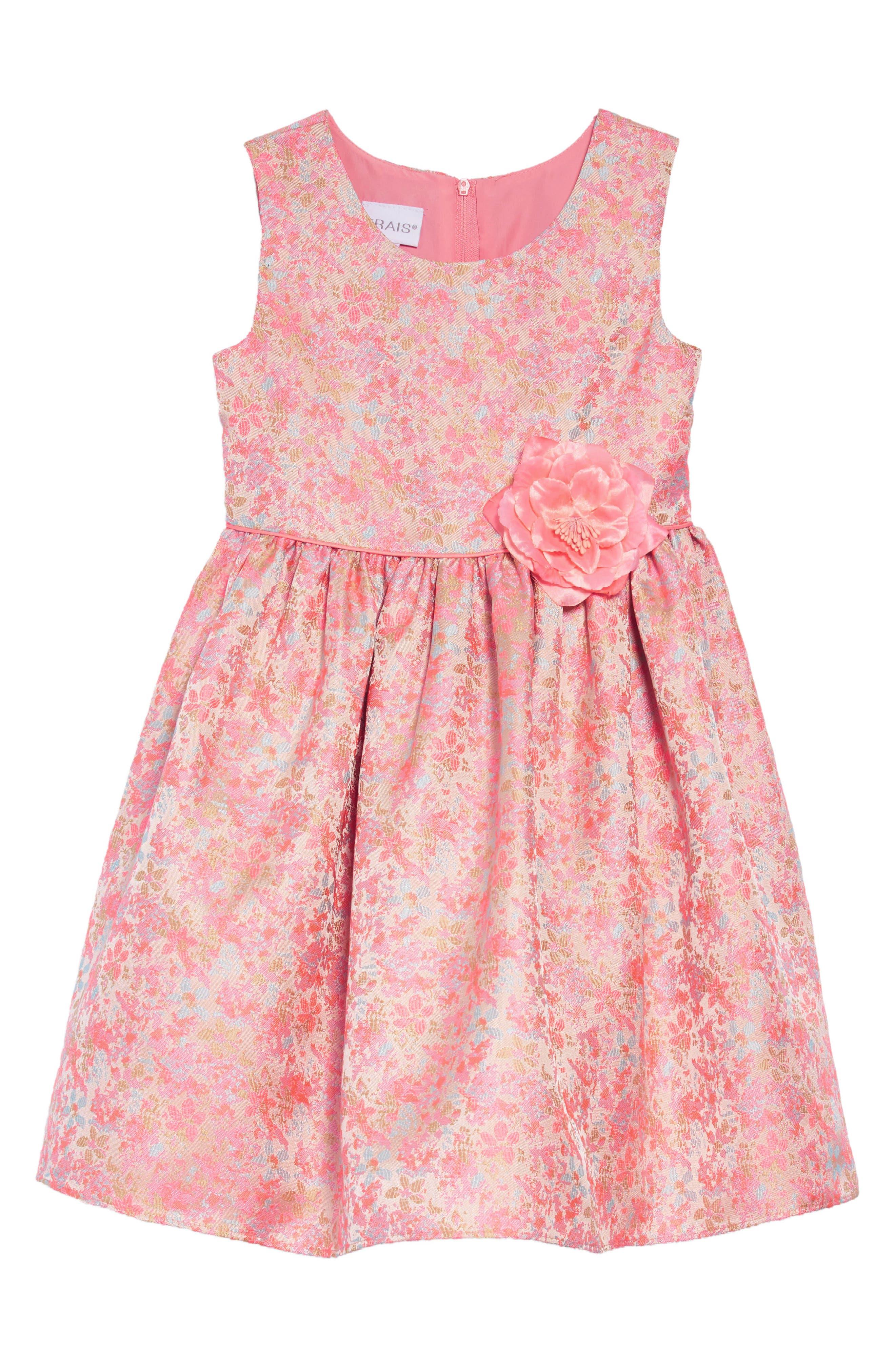 Summer Floral Jacquard Dress,                             Main thumbnail 1, color,