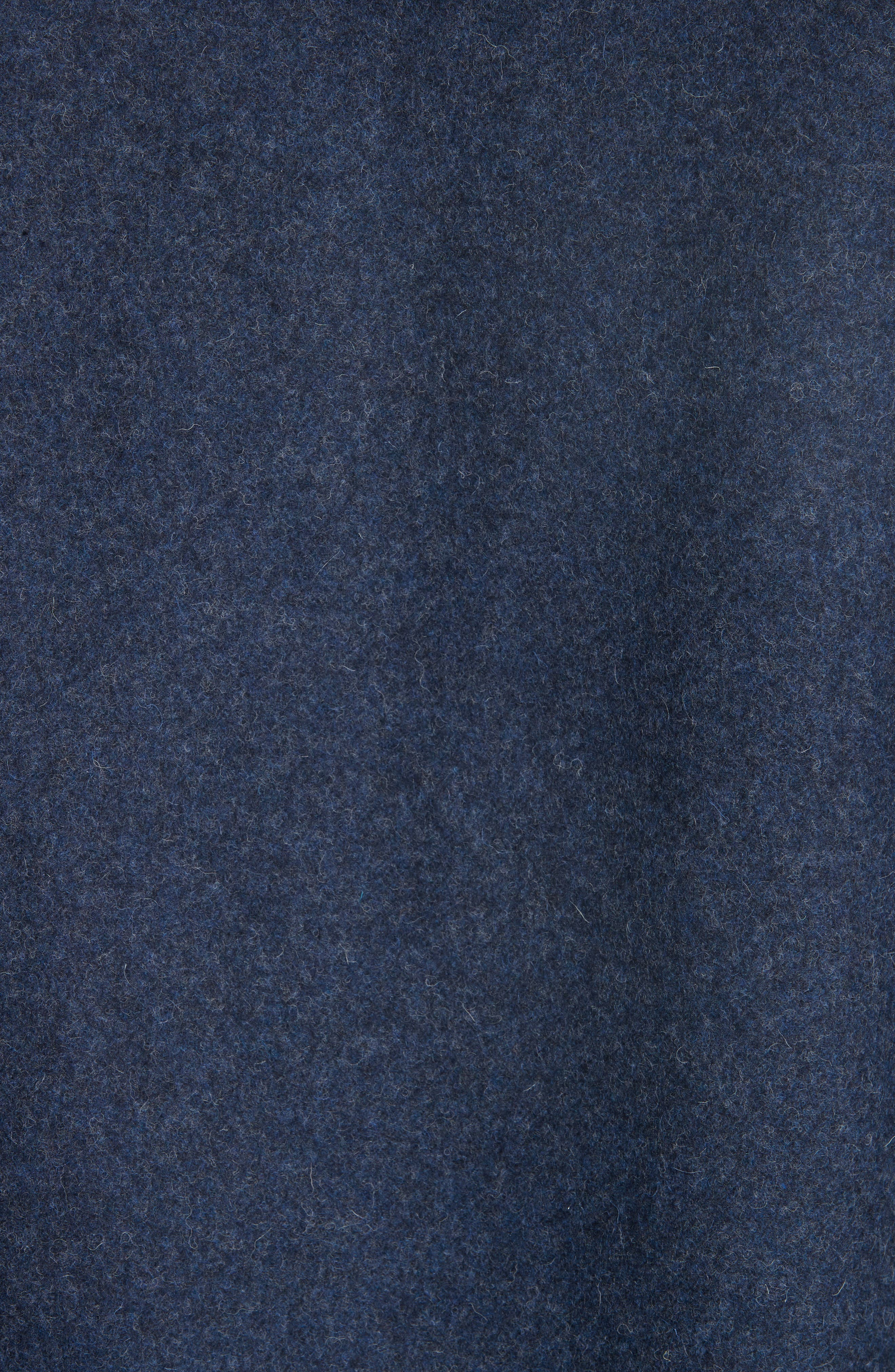 Surchemise Joe Wool Shirt,                             Alternate thumbnail 5, color,                             MARINE CHINE PIA
