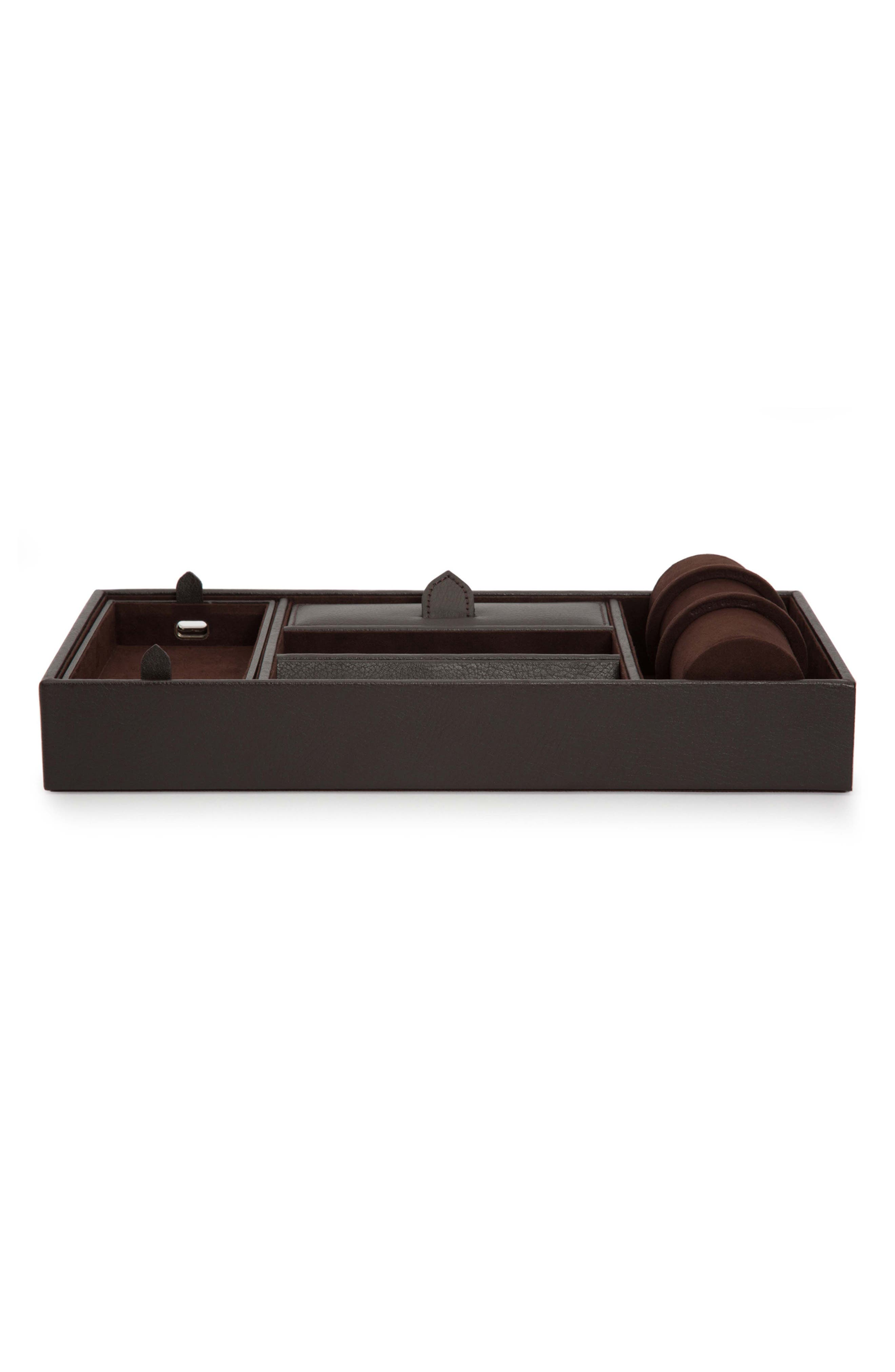 Blake Valet Tray & Watch Cuff,                         Main,                         color, BROWN