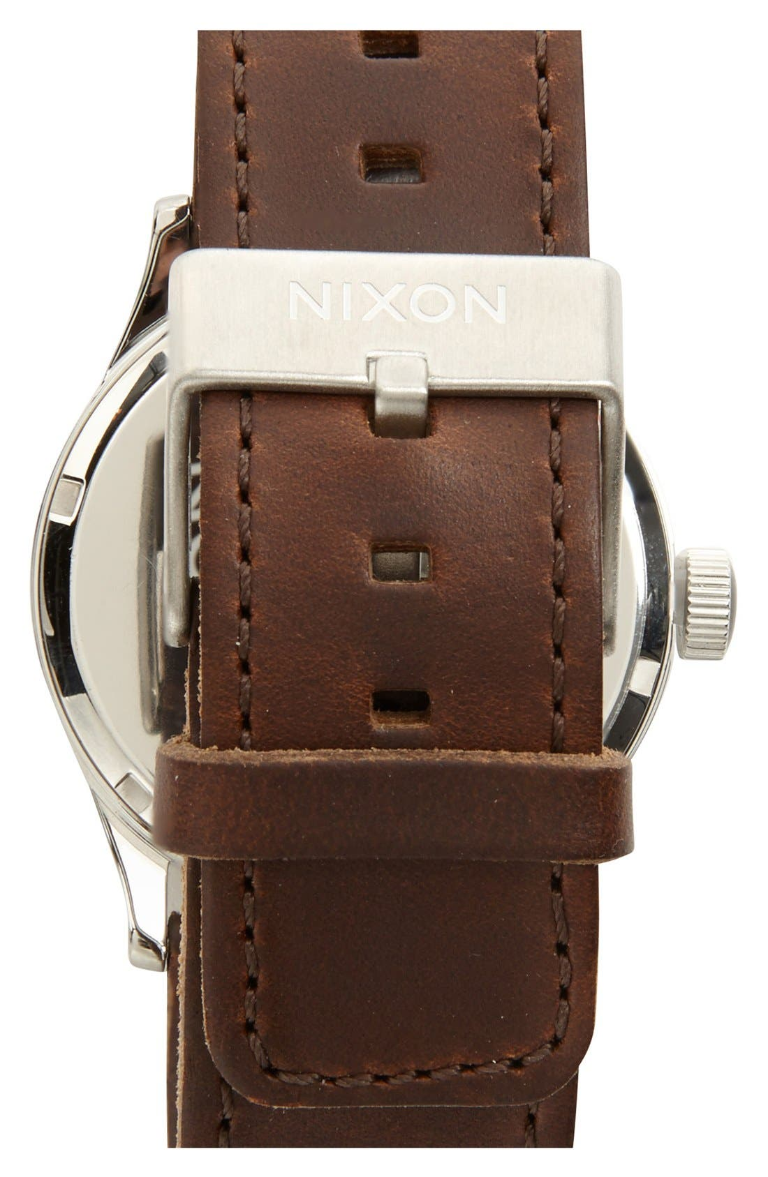 The Sentry Leather Strap Watch, 42mm,                             Alternate thumbnail 130, color,