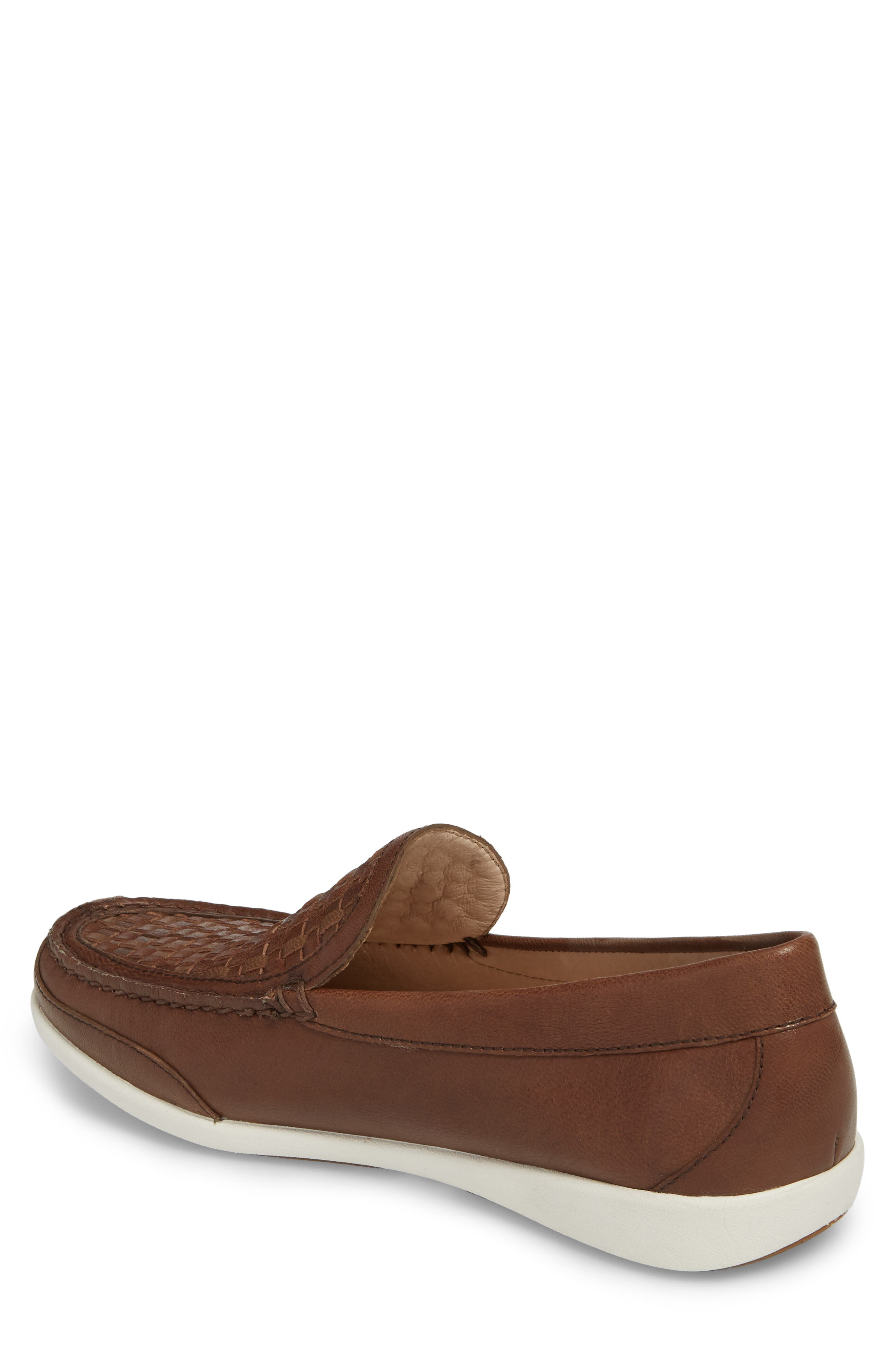 Taormina Woven Loafer,                             Alternate thumbnail 2, color,                             DARK BROWN LEATHER