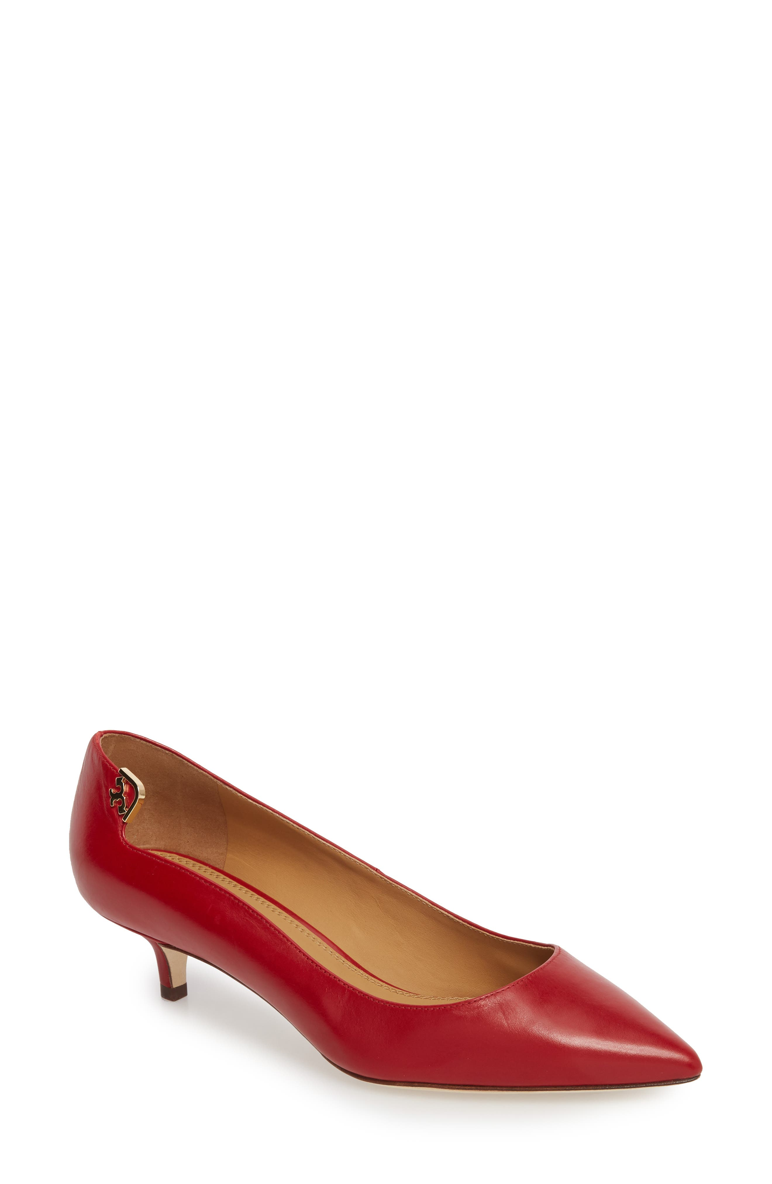 TORY BURCH Elizabeth Pointy Toe Pump, Main, color, 601