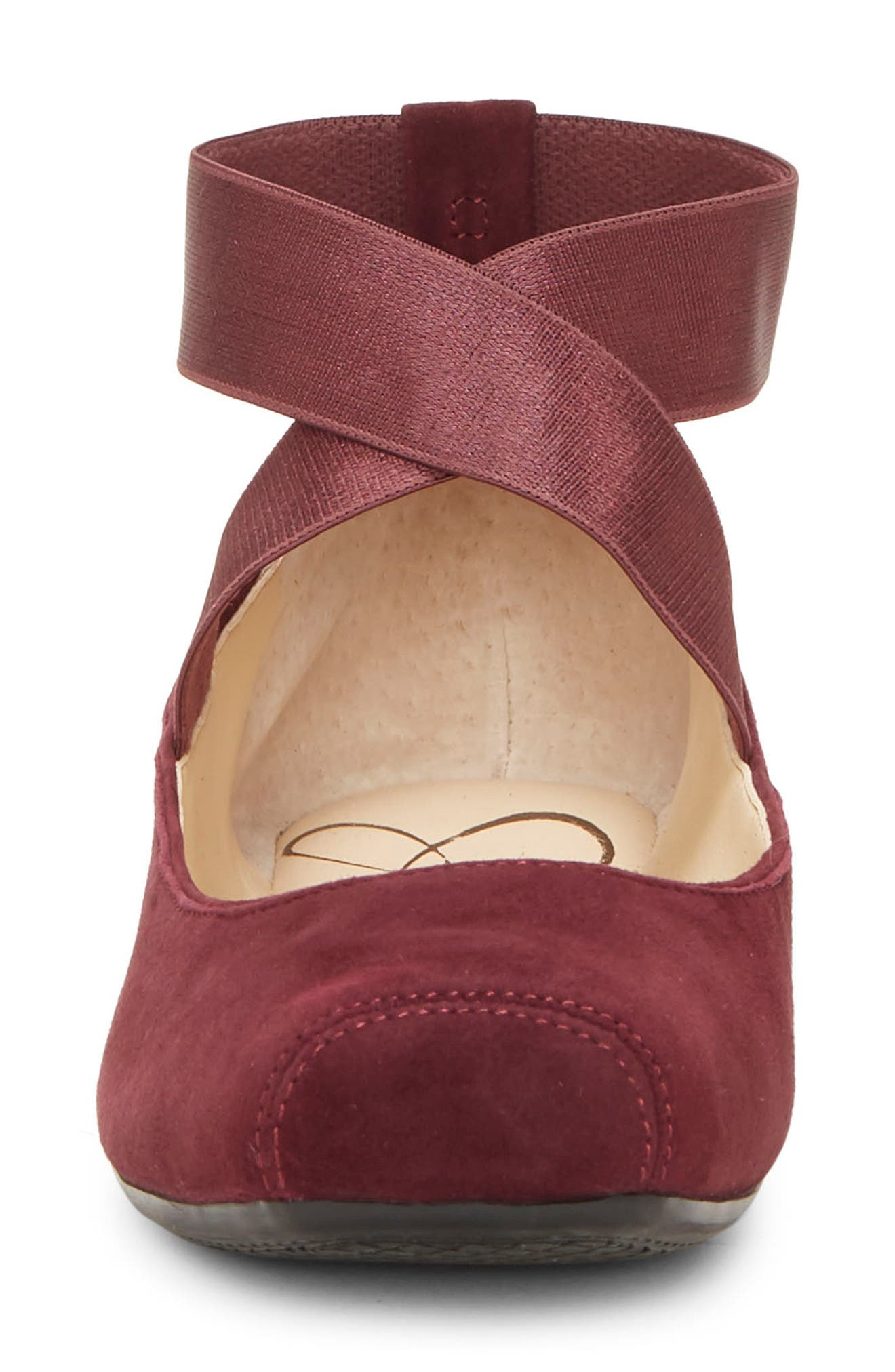 'Mandalaye' Leather Flat,                             Alternate thumbnail 4, color,                             SHIRAZ