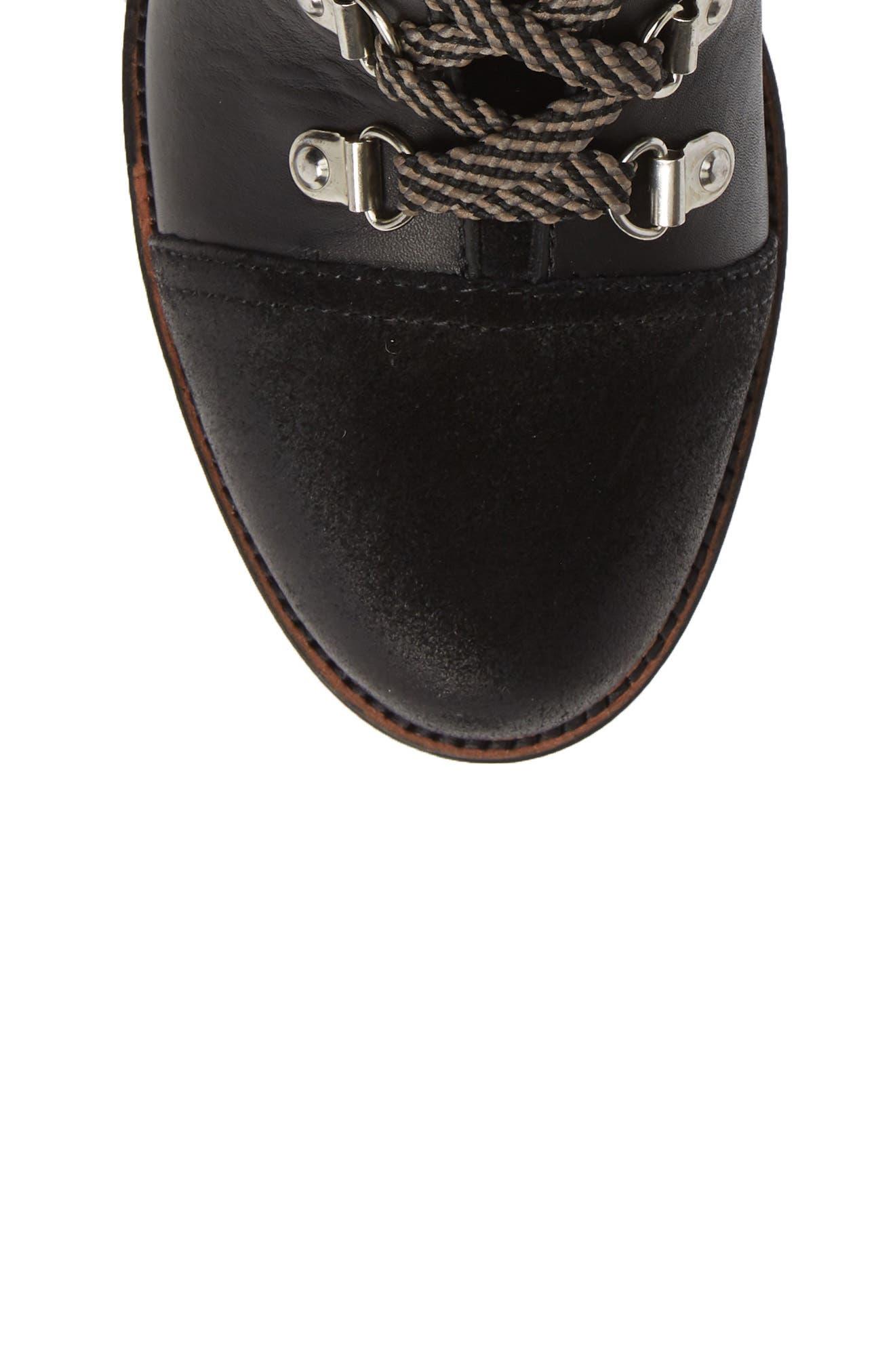 Manchester Boot,                             Alternate thumbnail 5, color,                             BLACK STRIPED CRUSHED VELVET