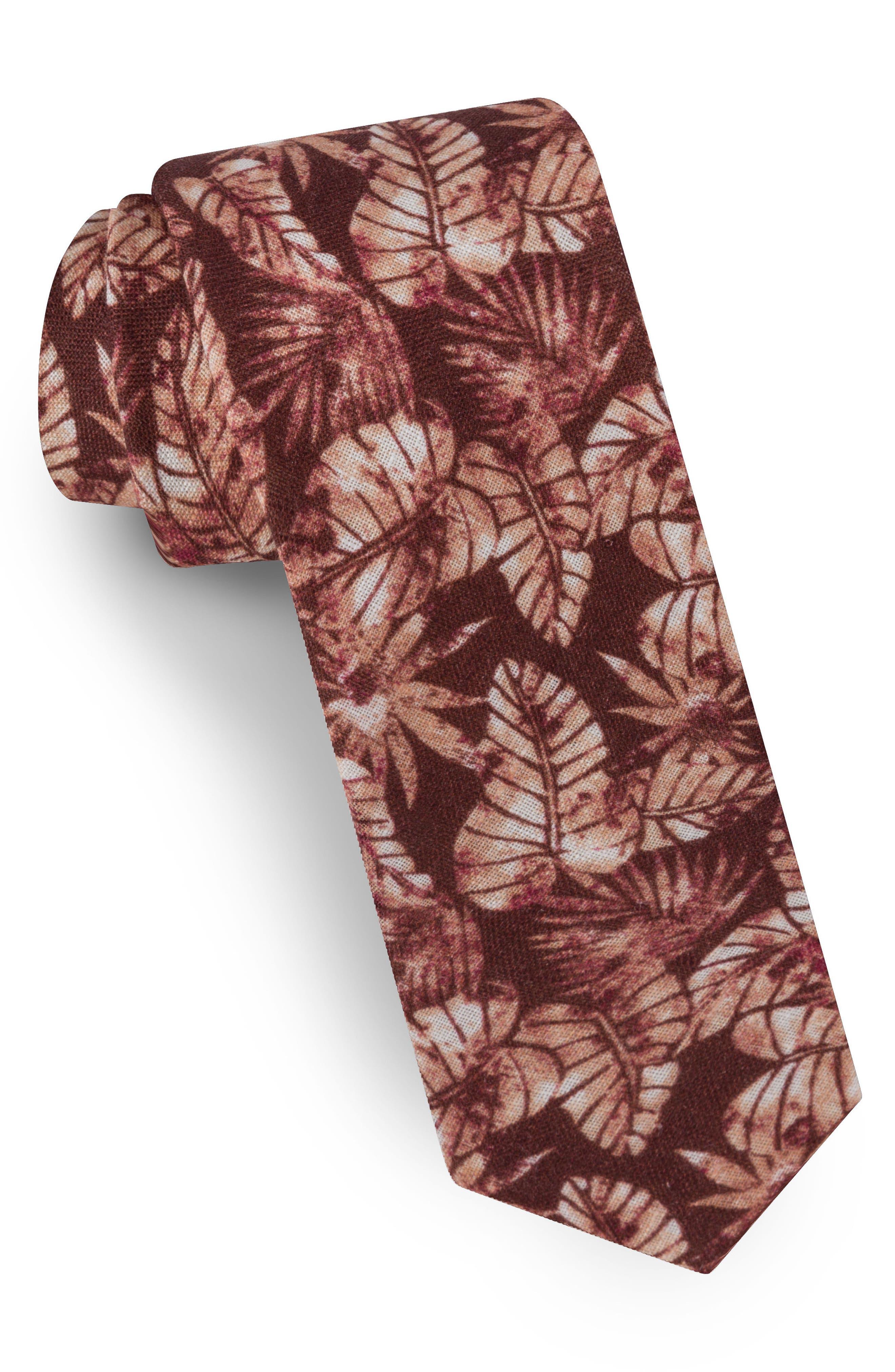 Palm Leaf Silk Tie,                             Main thumbnail 4, color,