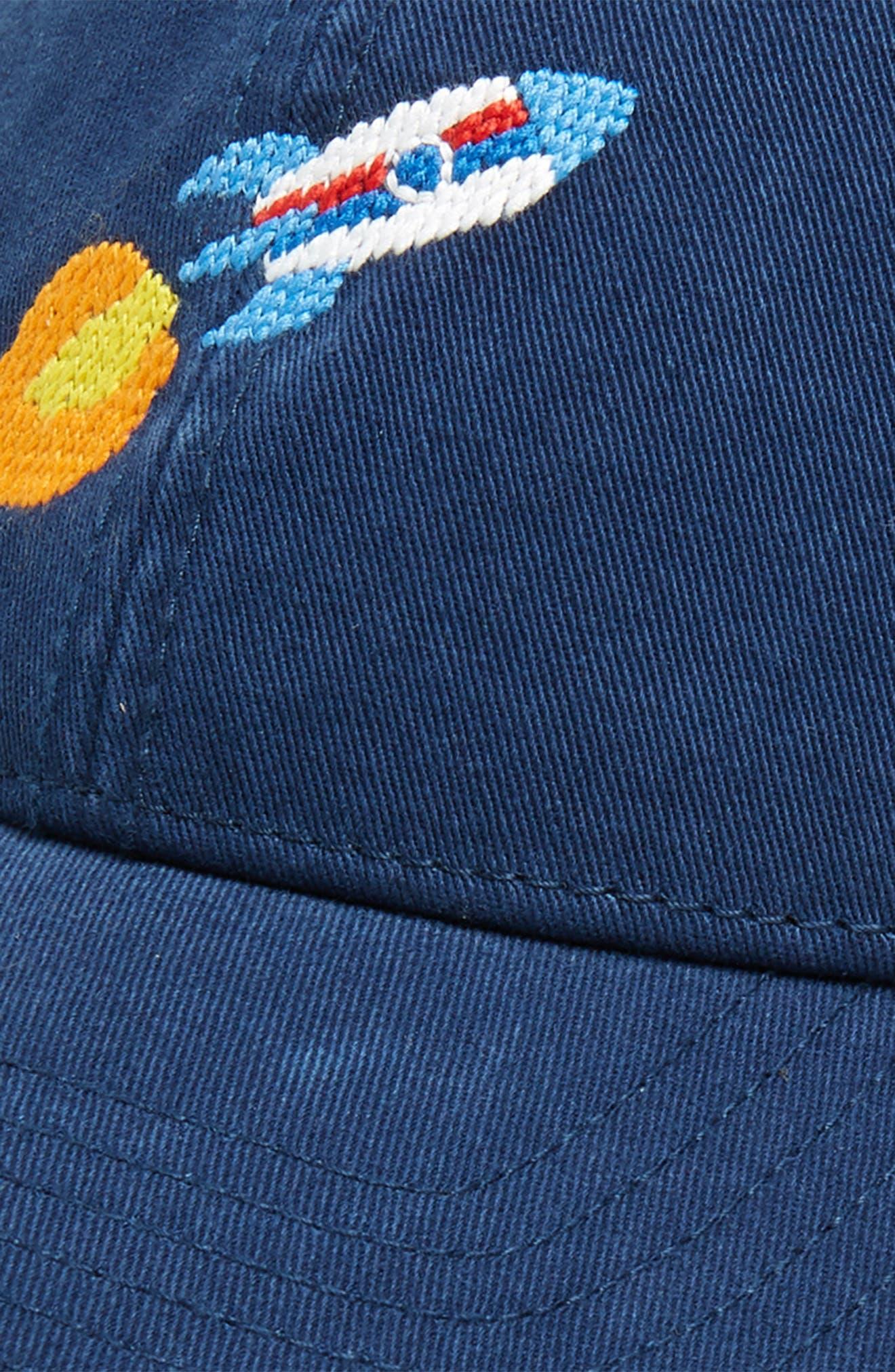 Rocket Baseball Cap,                             Alternate thumbnail 3, color,                             NAVY
