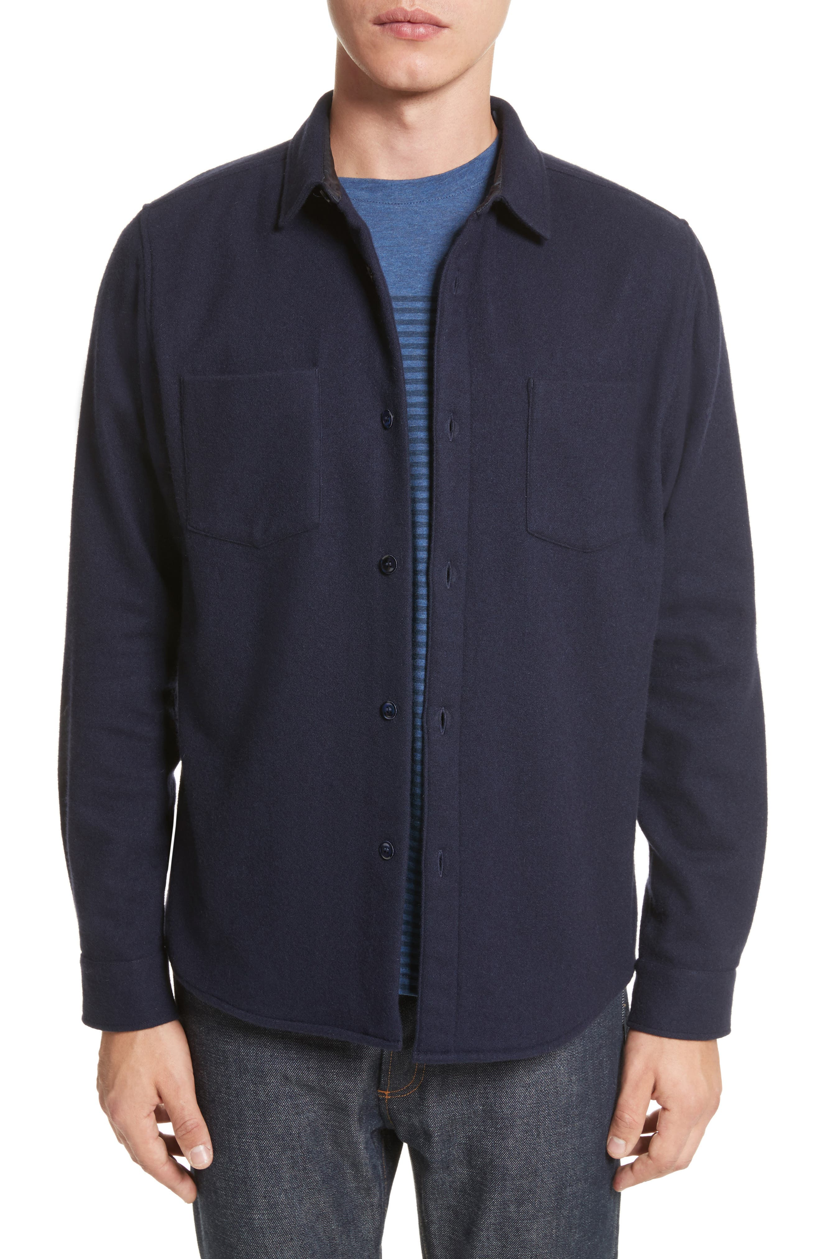Fritz Wool Blend Shirt Jacket,                             Main thumbnail 1, color,                             410