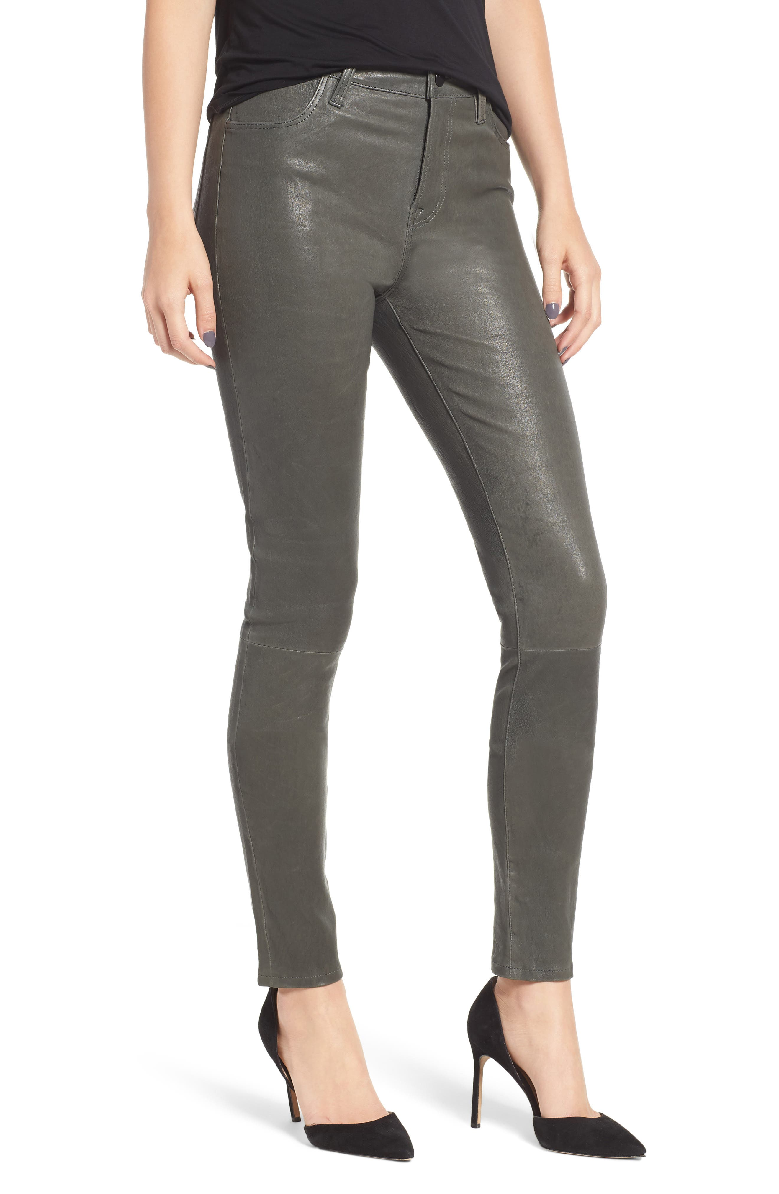 'Maria' Lambskin Leather Leggings,                             Main thumbnail 1, color,                             039