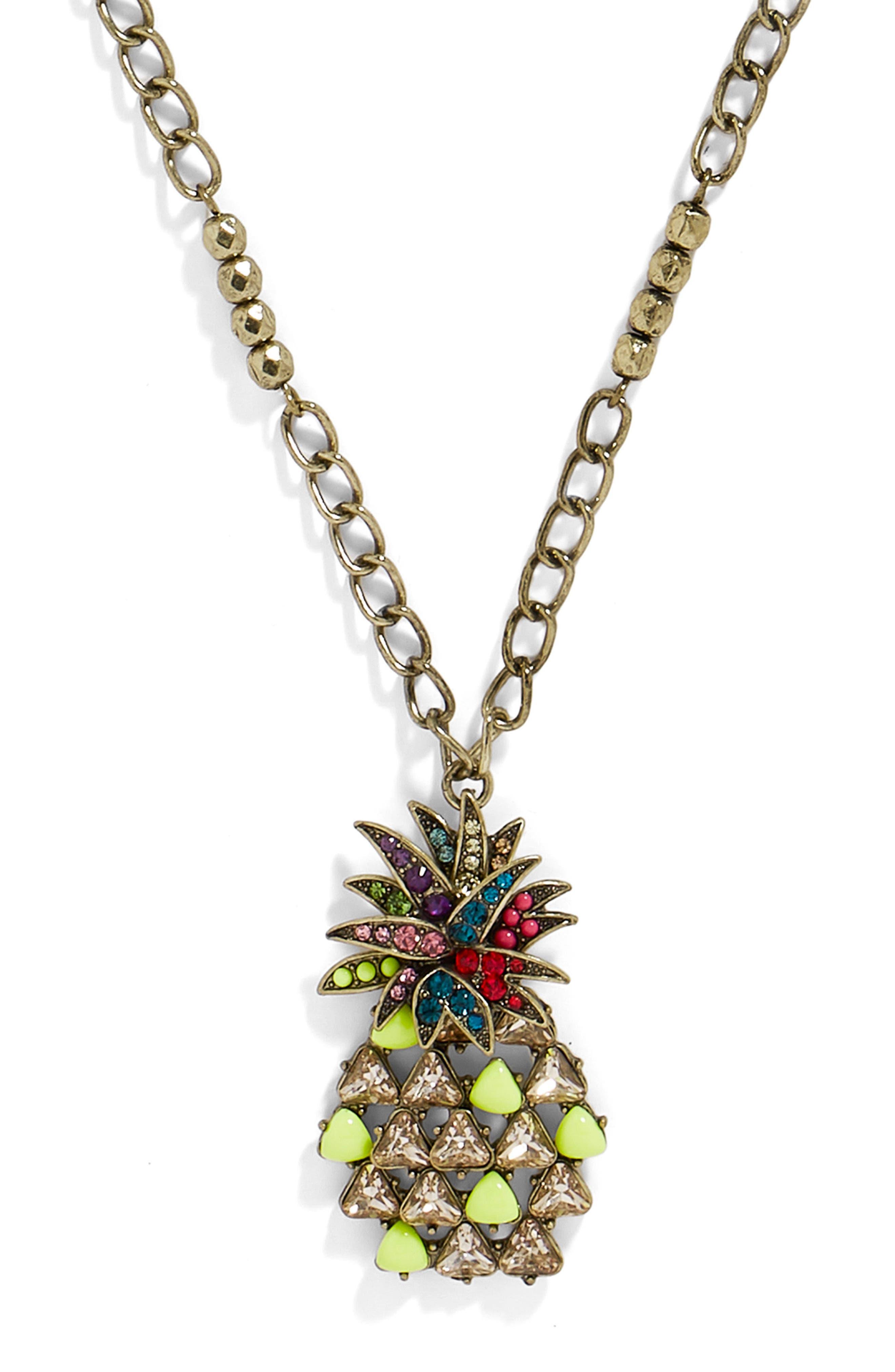 Pineapple Pop Pendant Necklace,                             Alternate thumbnail 2, color,