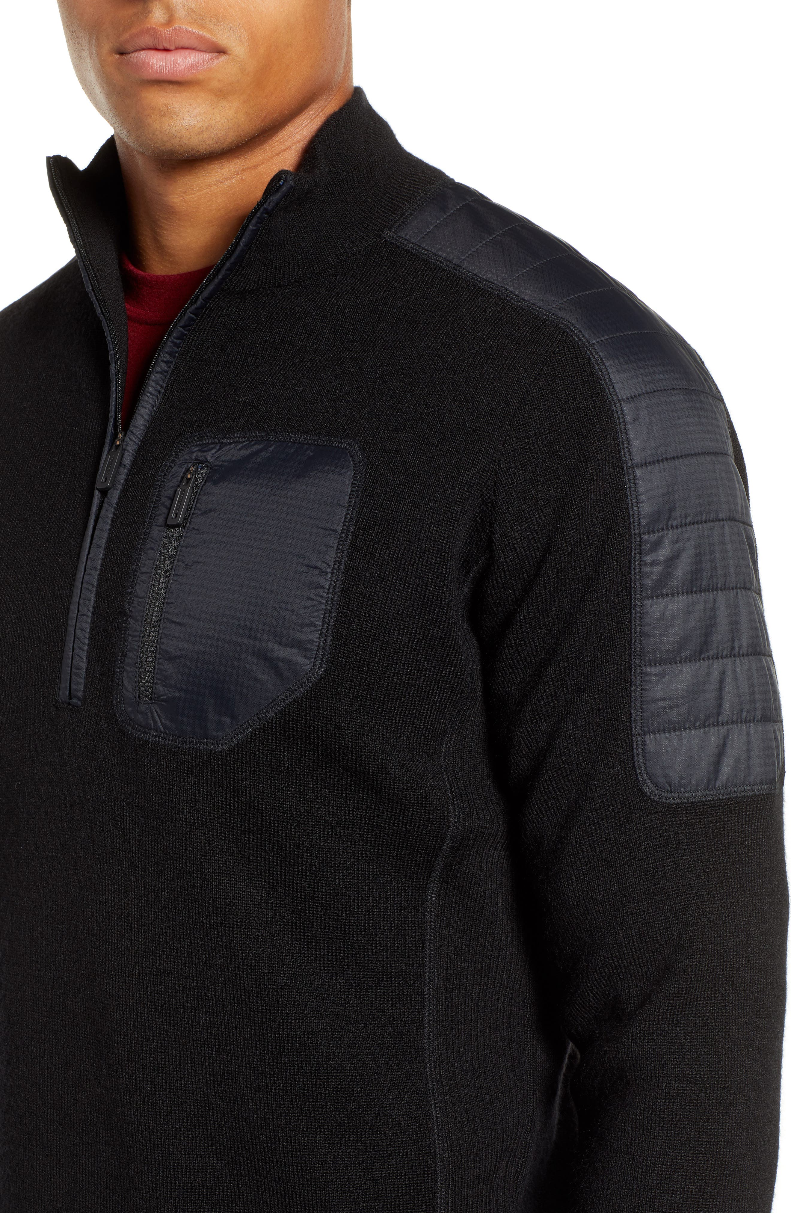 SMARTWOOL,                             Ski Ninja Pullover Sweater,                             Alternate thumbnail 4, color,                             BLACK