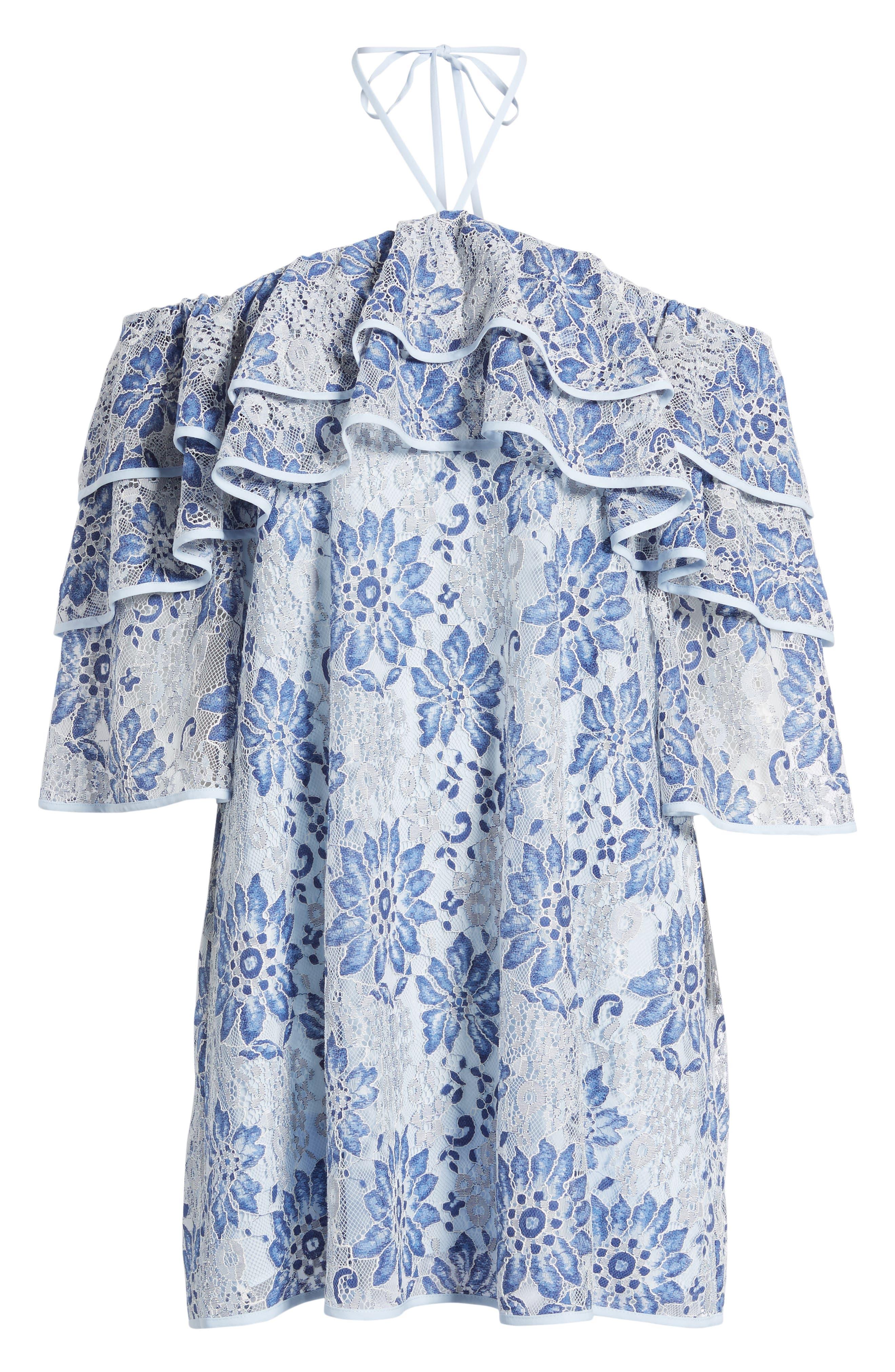 Dena Off the Shoulder Shift Dress,                             Alternate thumbnail 6, color,                             401