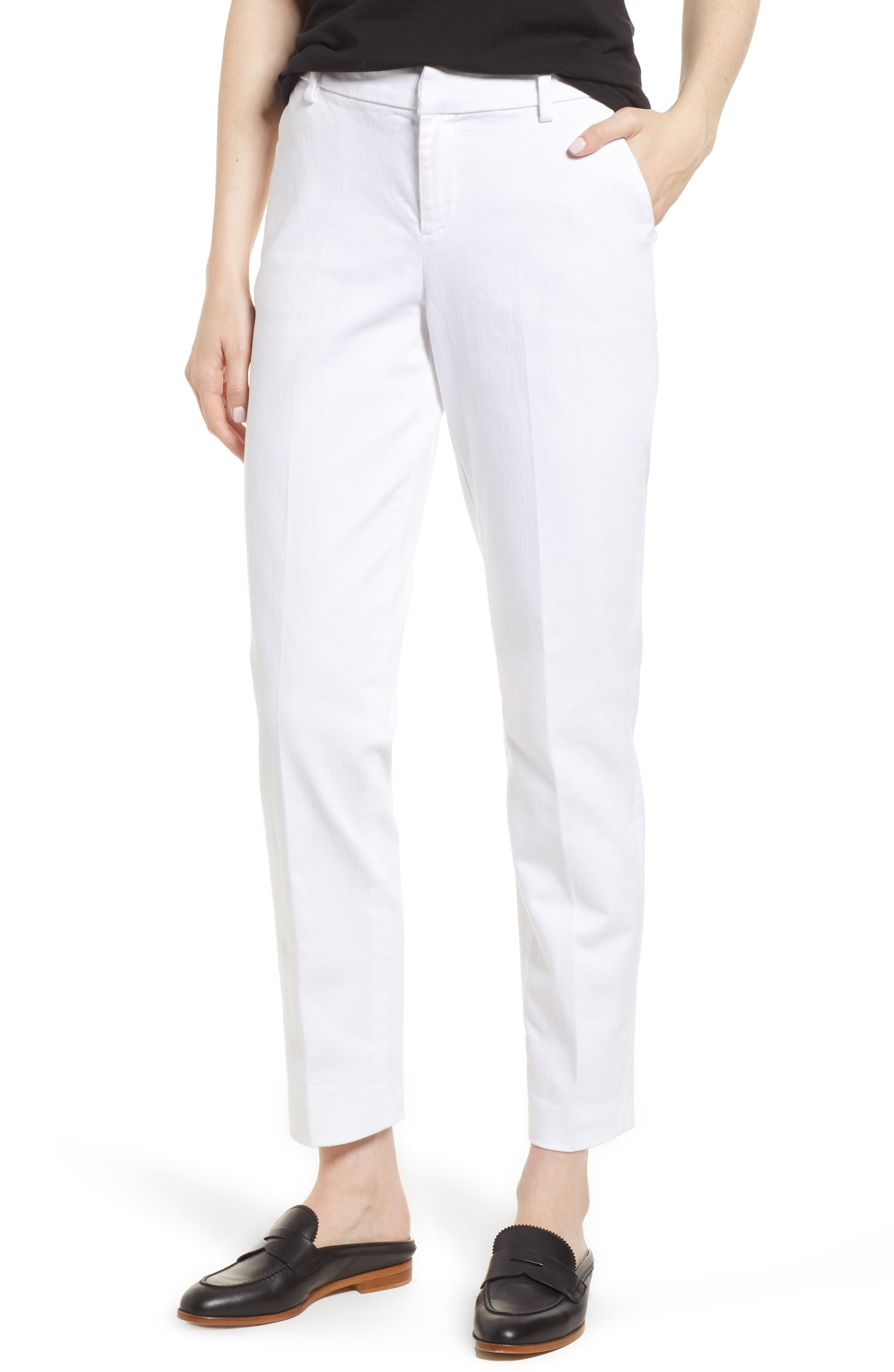 Kelsey Trousers,                         Main,                         color, BRIGHT WHITE