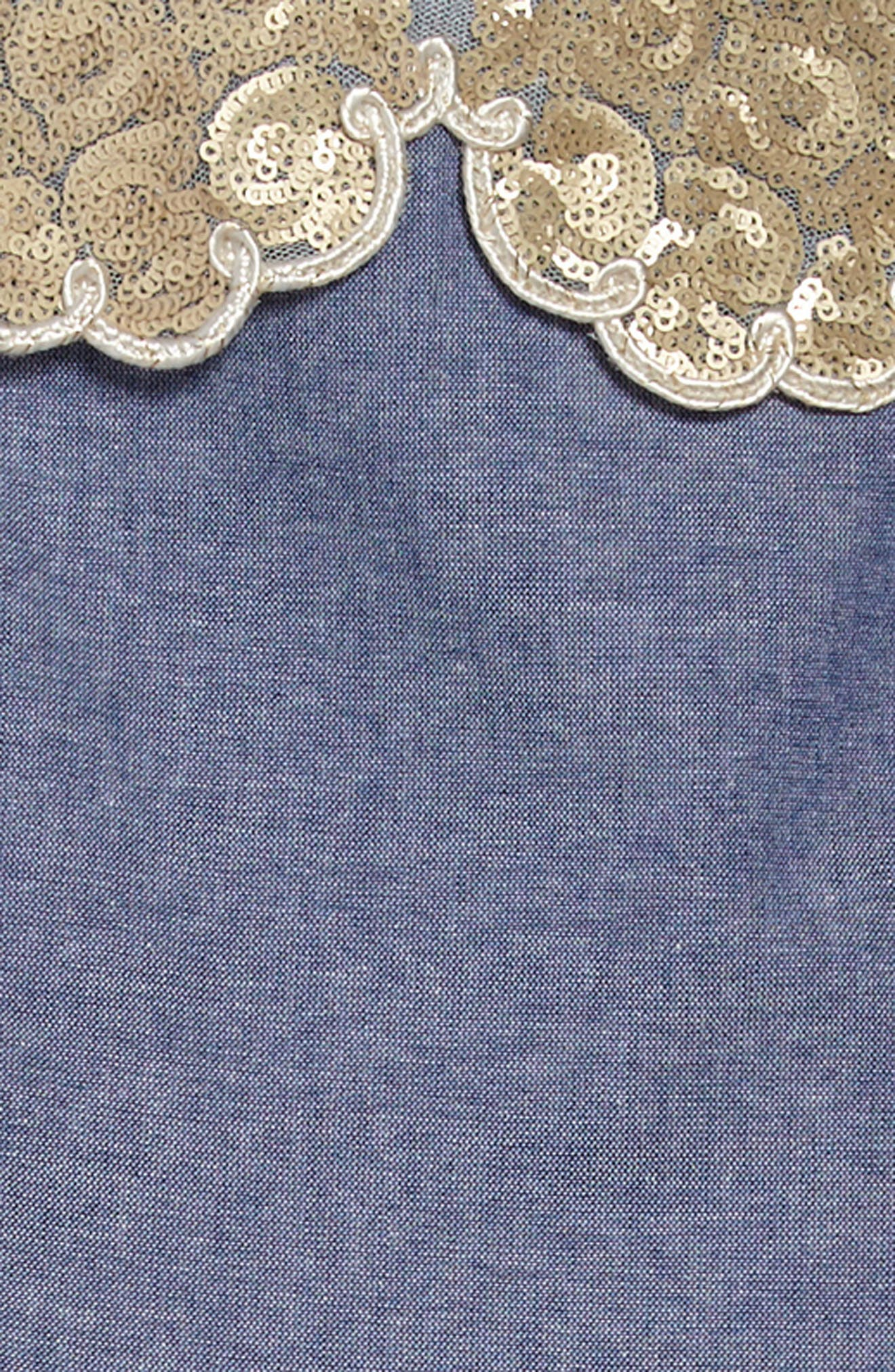 Darcy Chambray Dress,                             Alternate thumbnail 3, color,                             400