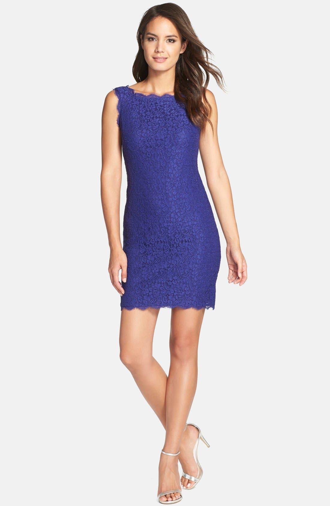 Boatneck Lace Sheath Dress,                             Alternate thumbnail 79, color,
