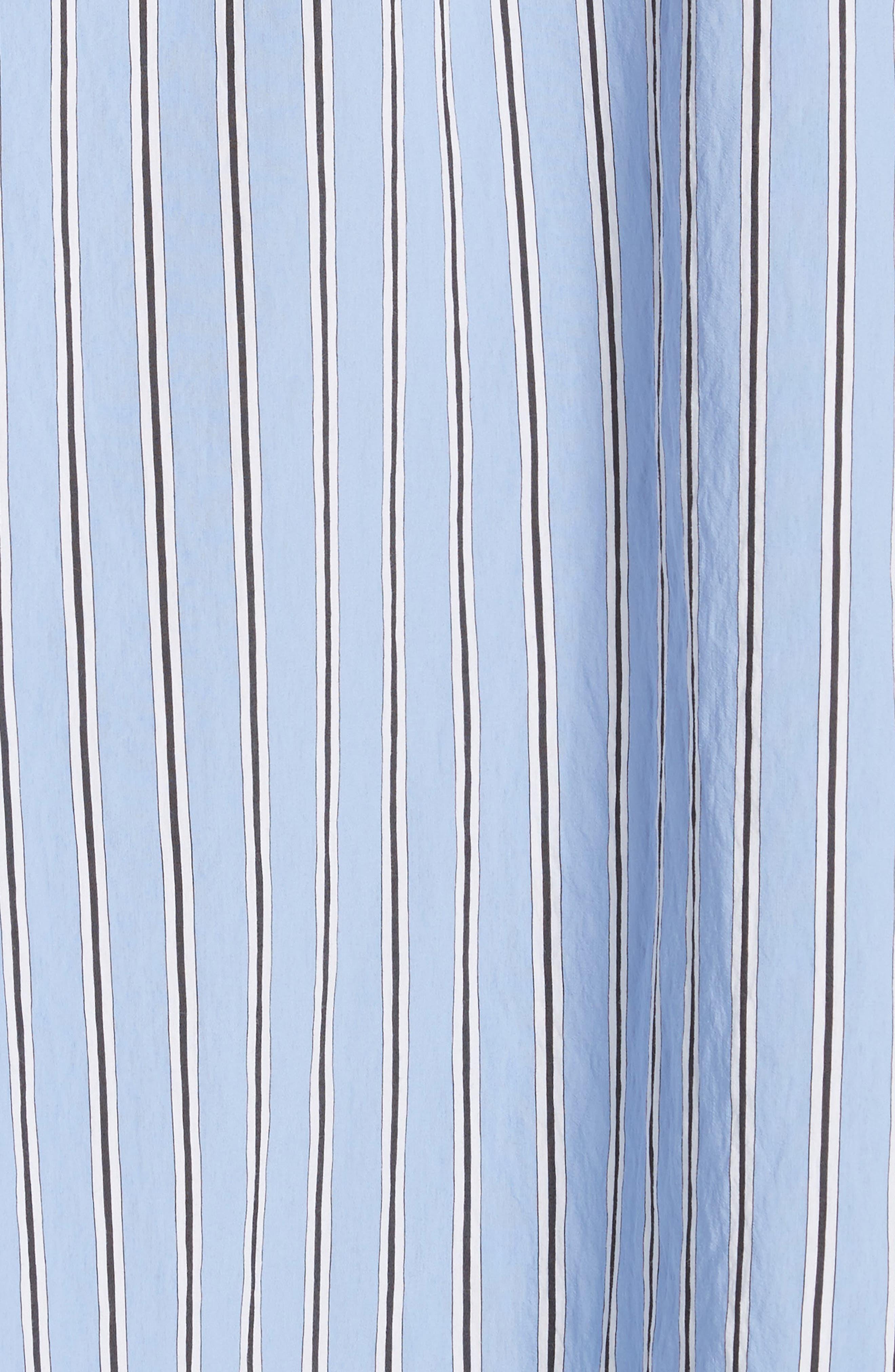 Cabrera Stripe One-Shoulder Dress,                             Alternate thumbnail 6, color,                             420