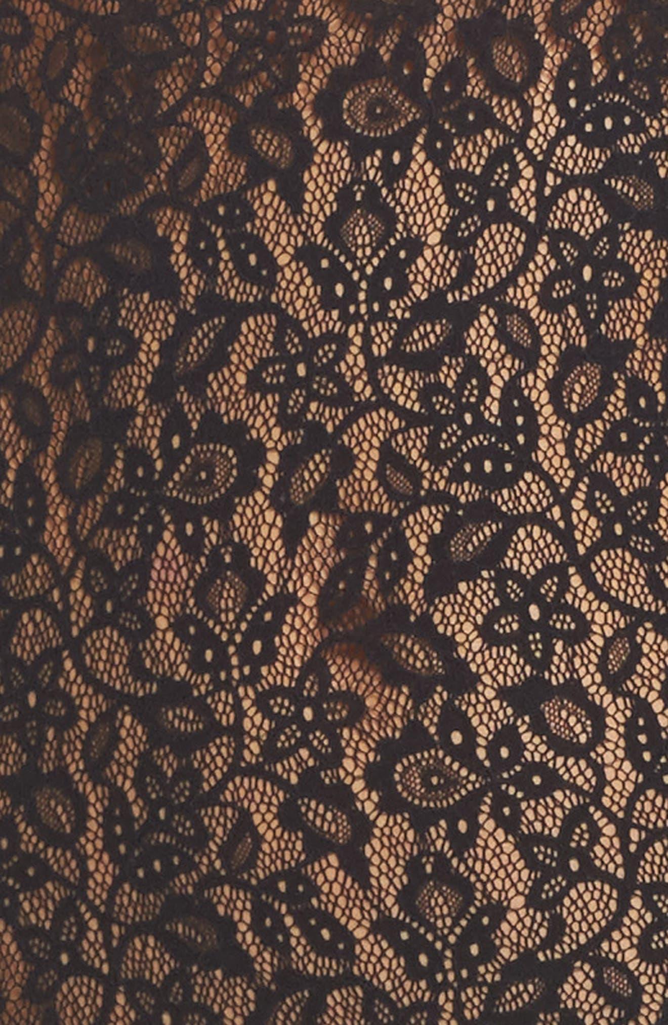 Floral Lace Bodysuit,                             Alternate thumbnail 5, color,                             001