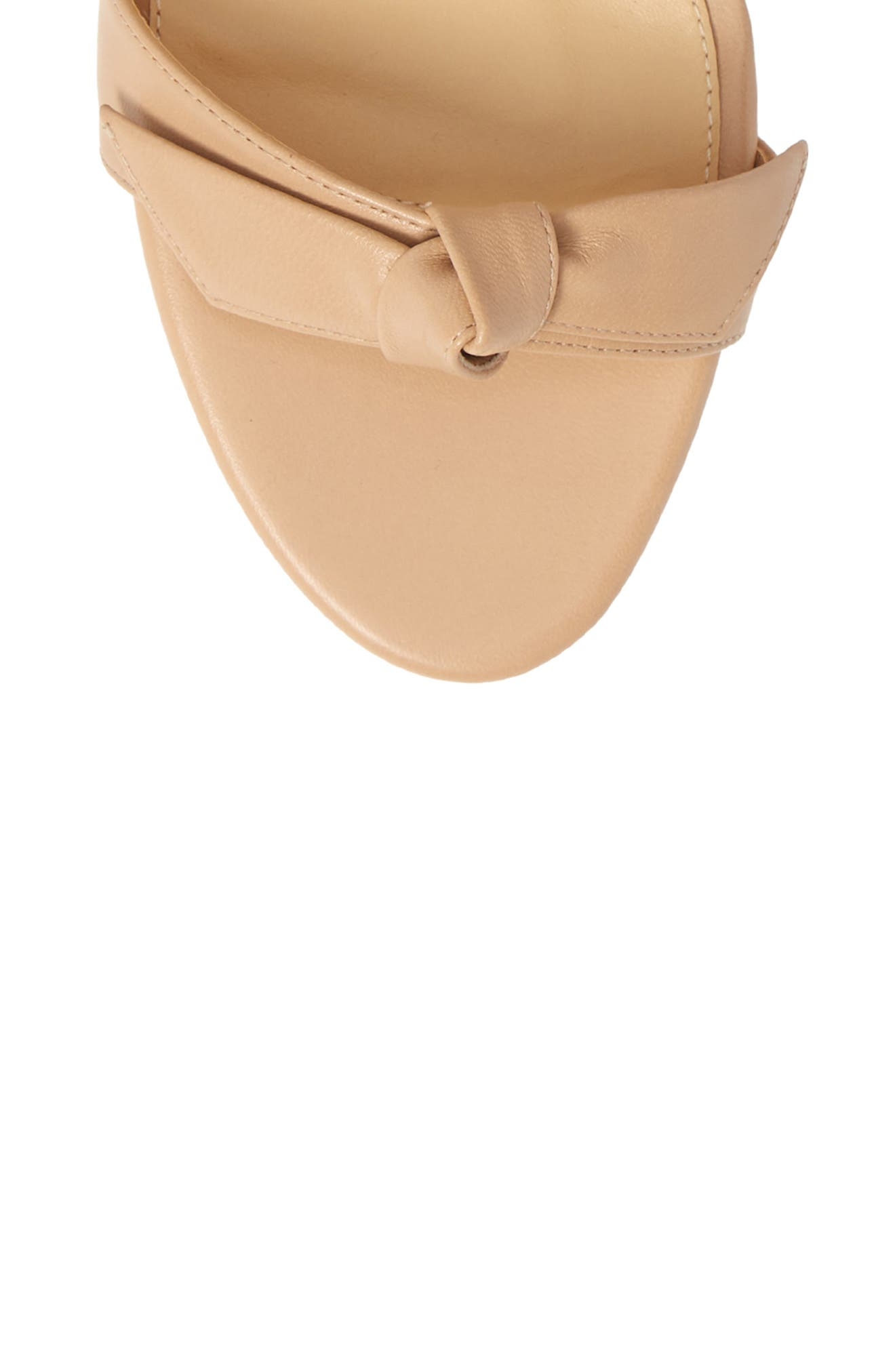 Clarita Knotted Sandal,                             Alternate thumbnail 5, color,                             NUDE LEATHER