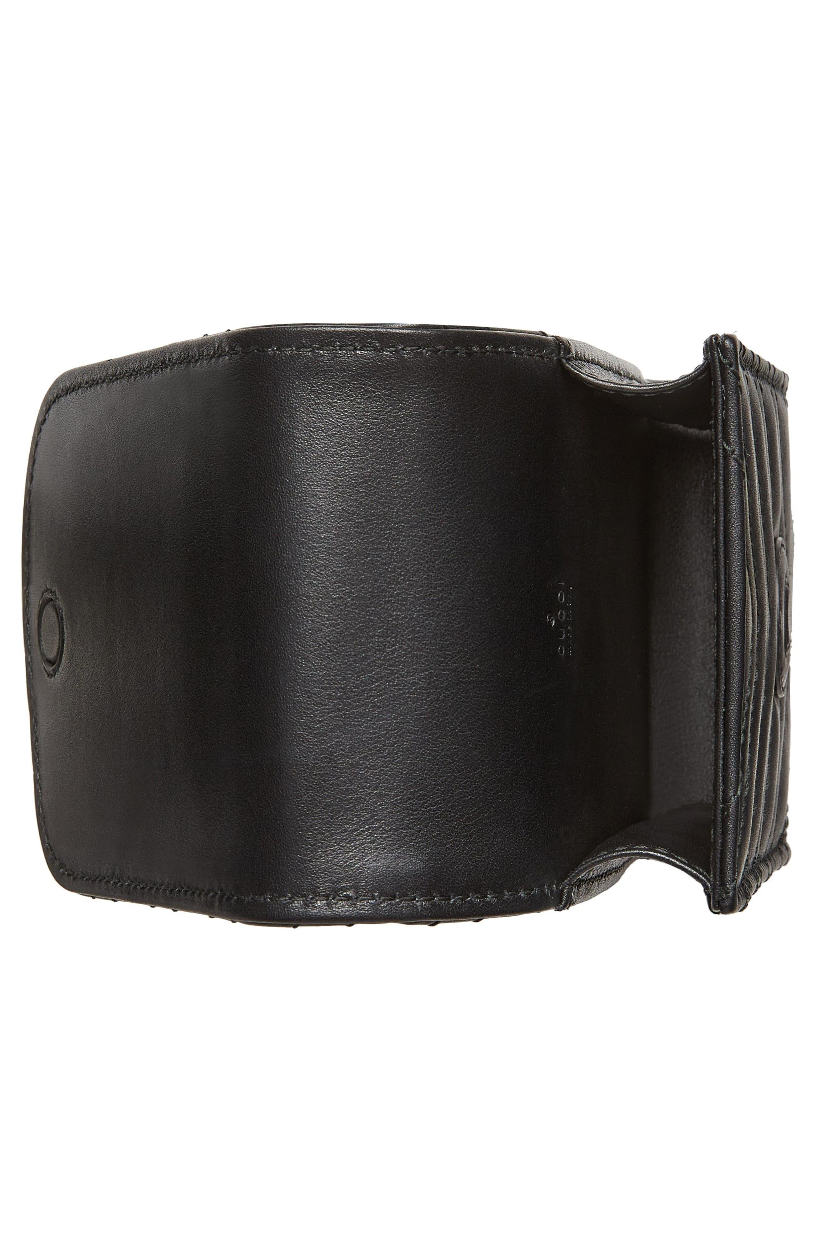 GG Marmont 2.0 Matelassé Leather Phone Case,                             Alternate thumbnail 3, color,