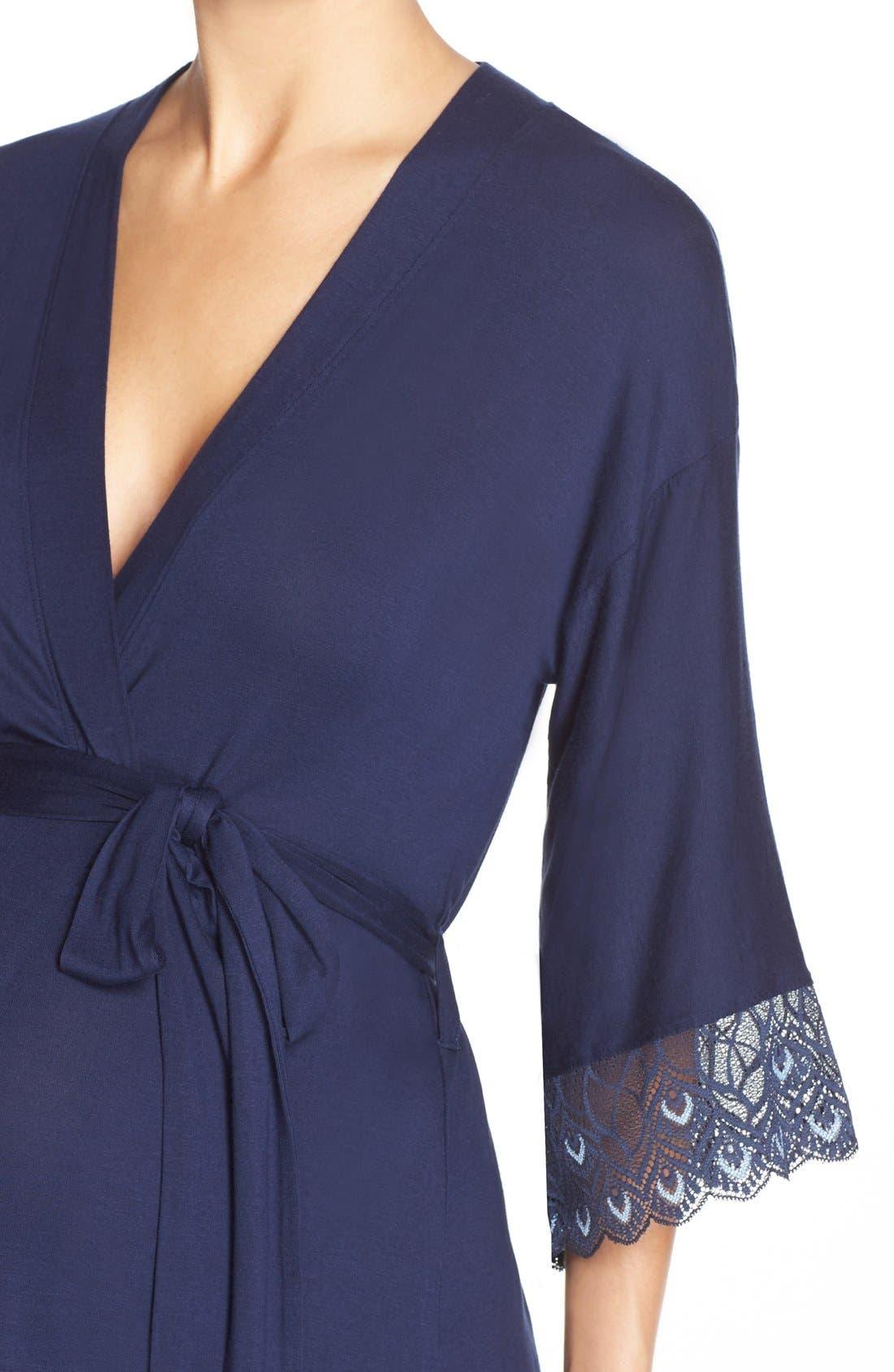 'Tallulah' Maternity Jersey Robe,                             Alternate thumbnail 9, color,