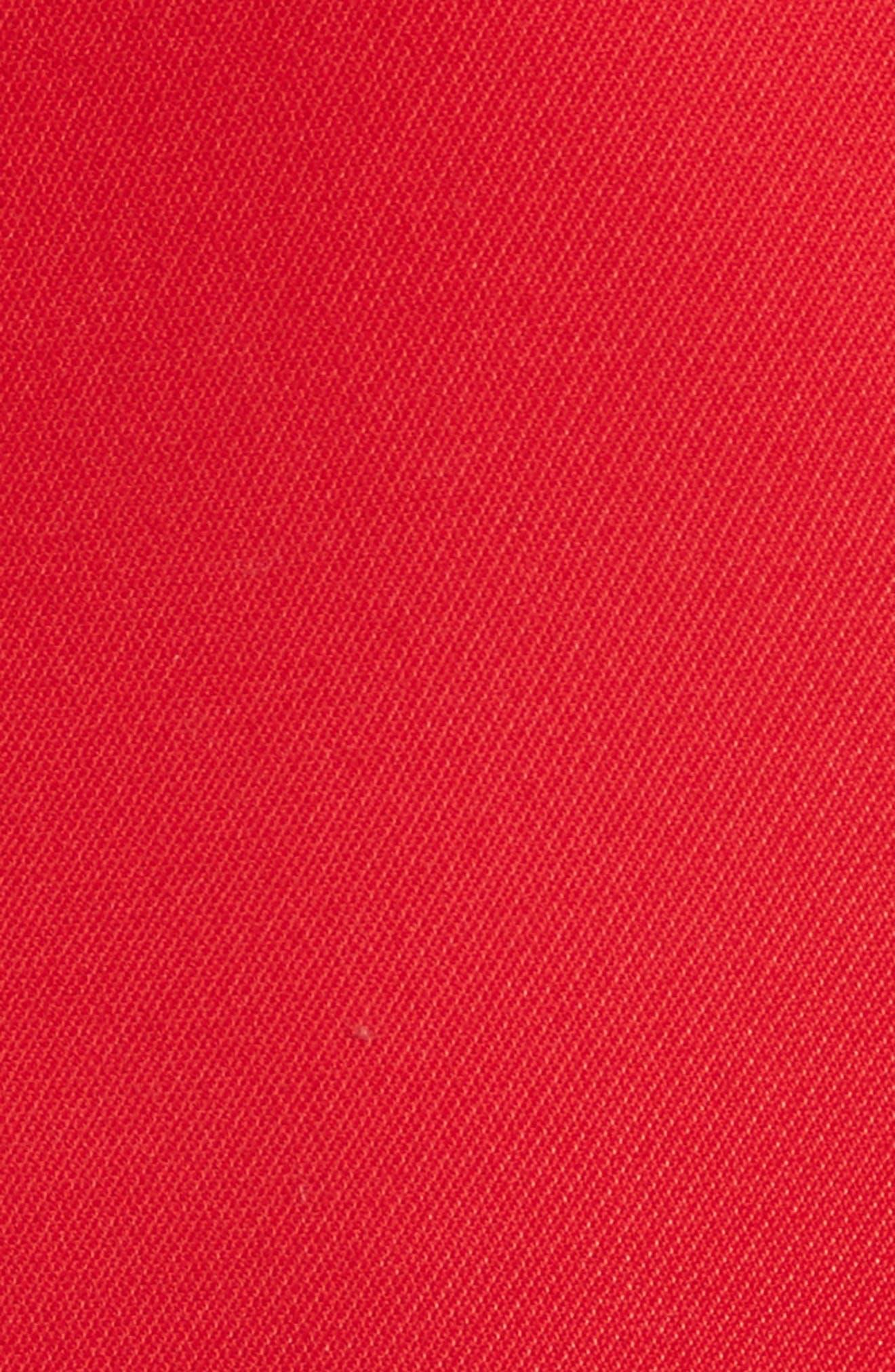 Open Stripe Fit & Flare Dress,                             Alternate thumbnail 5, color,                             610