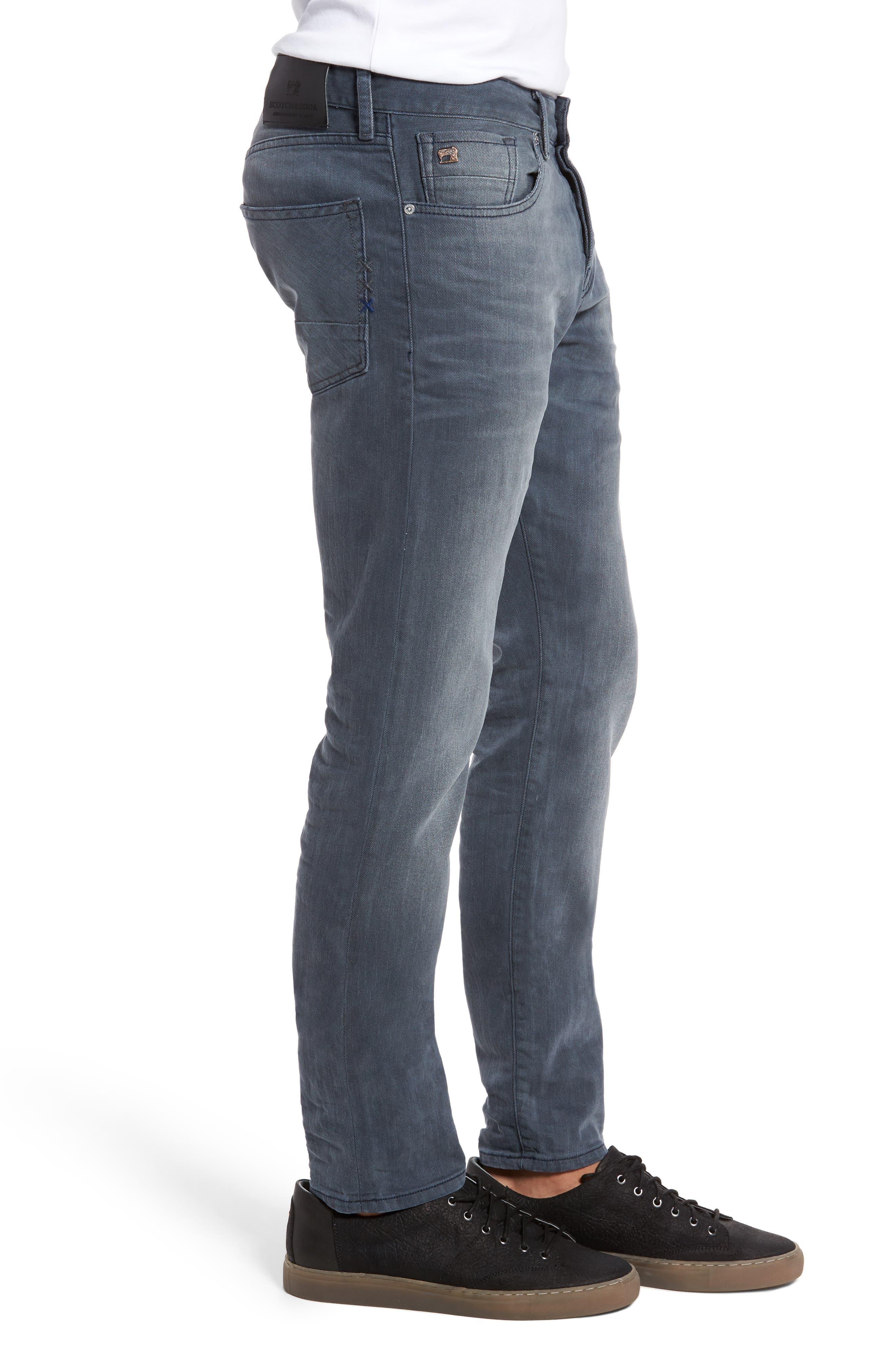 Ralston Slim Straight Leg Jeans,                             Alternate thumbnail 3, color,                             CONCRETE BLEACH