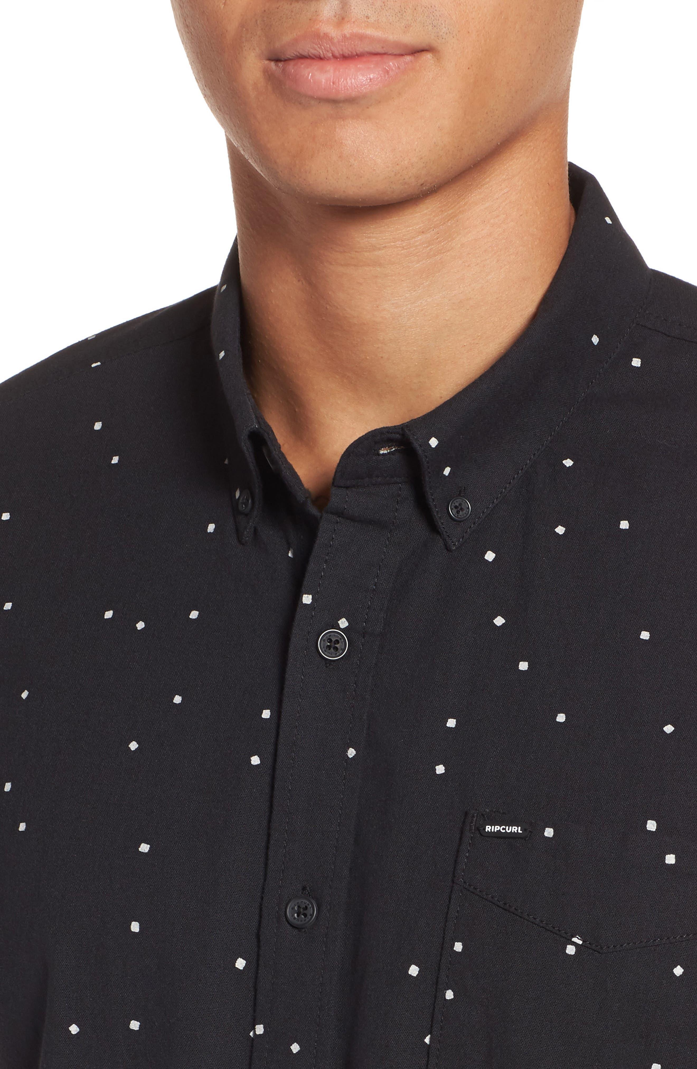 Mixter Short Sleeve Shirt,                             Alternate thumbnail 4, color,                             001