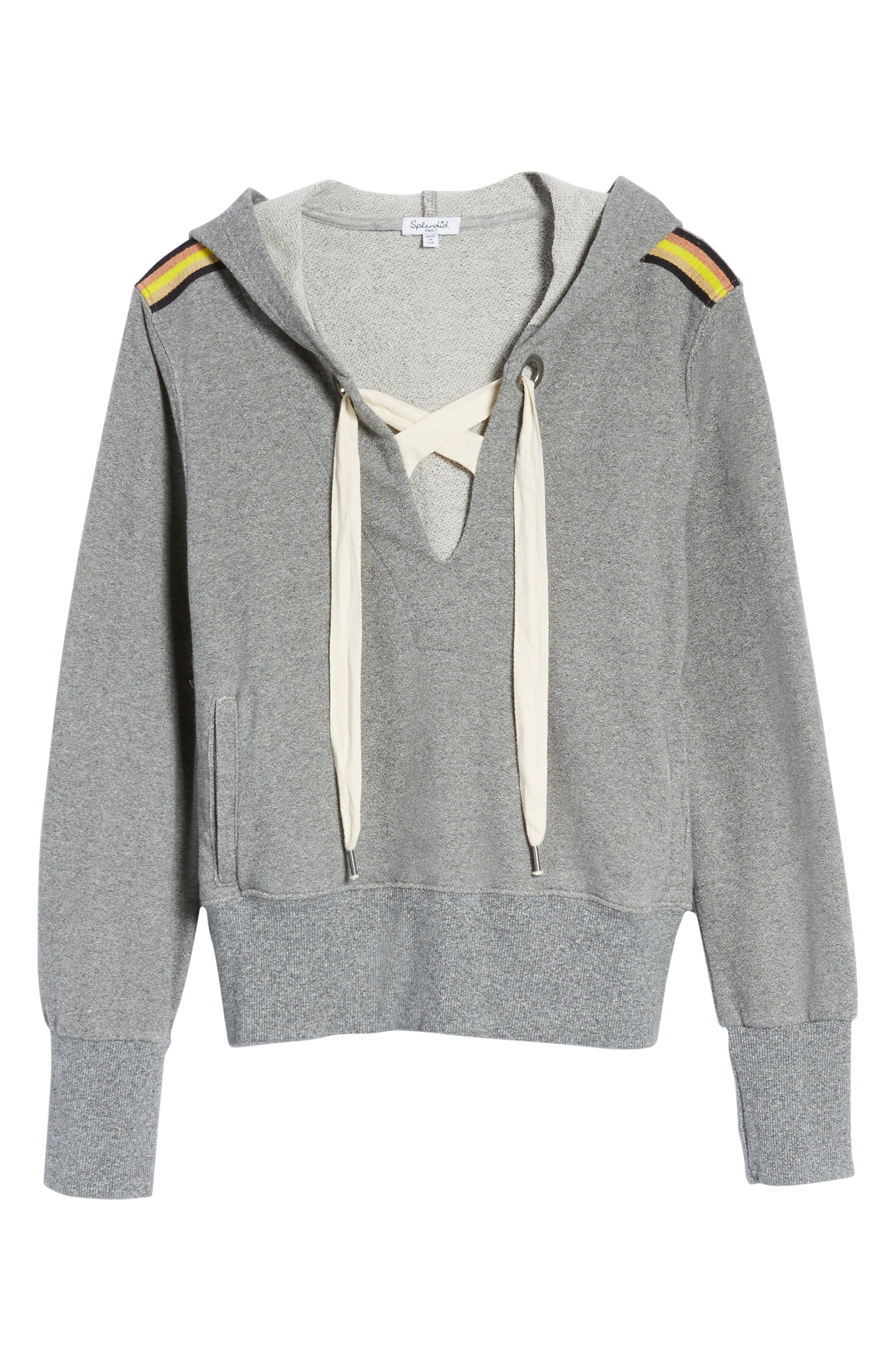 Warwick Lace-Up Hoodie,                             Alternate thumbnail 6, color,                             039