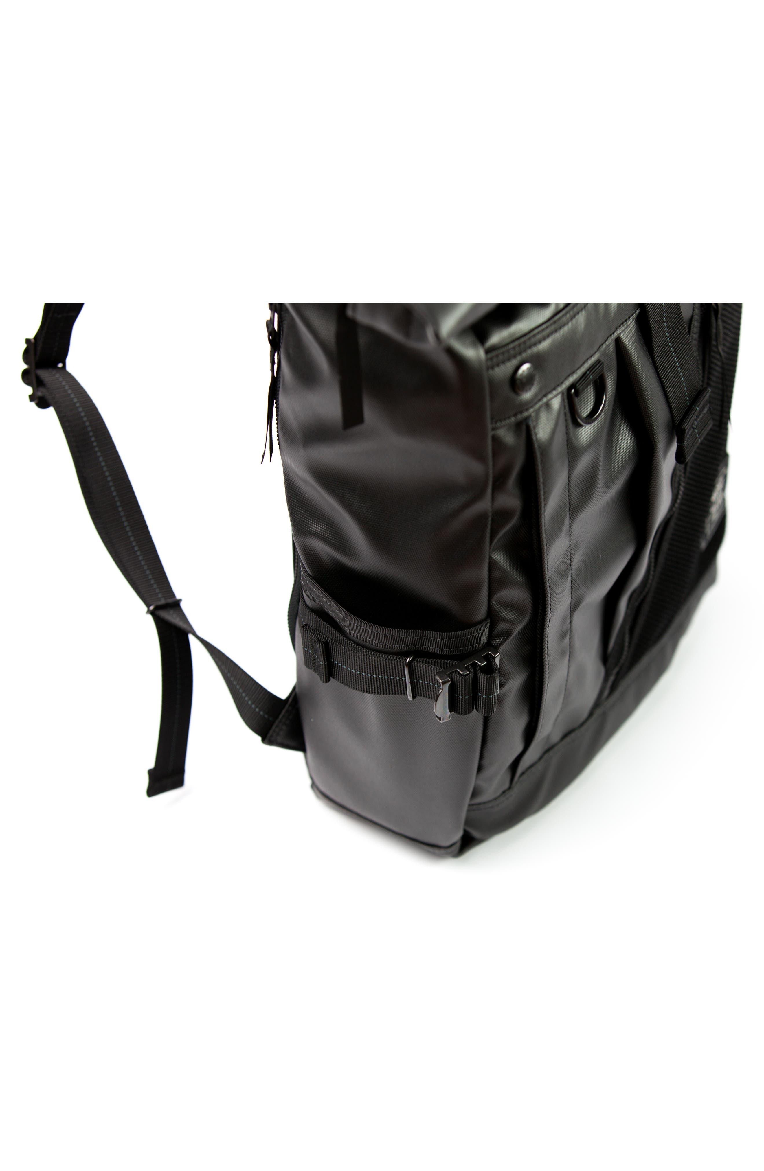 NightHawk Roll Top Backpack,                             Alternate thumbnail 6, color,                             BLACK