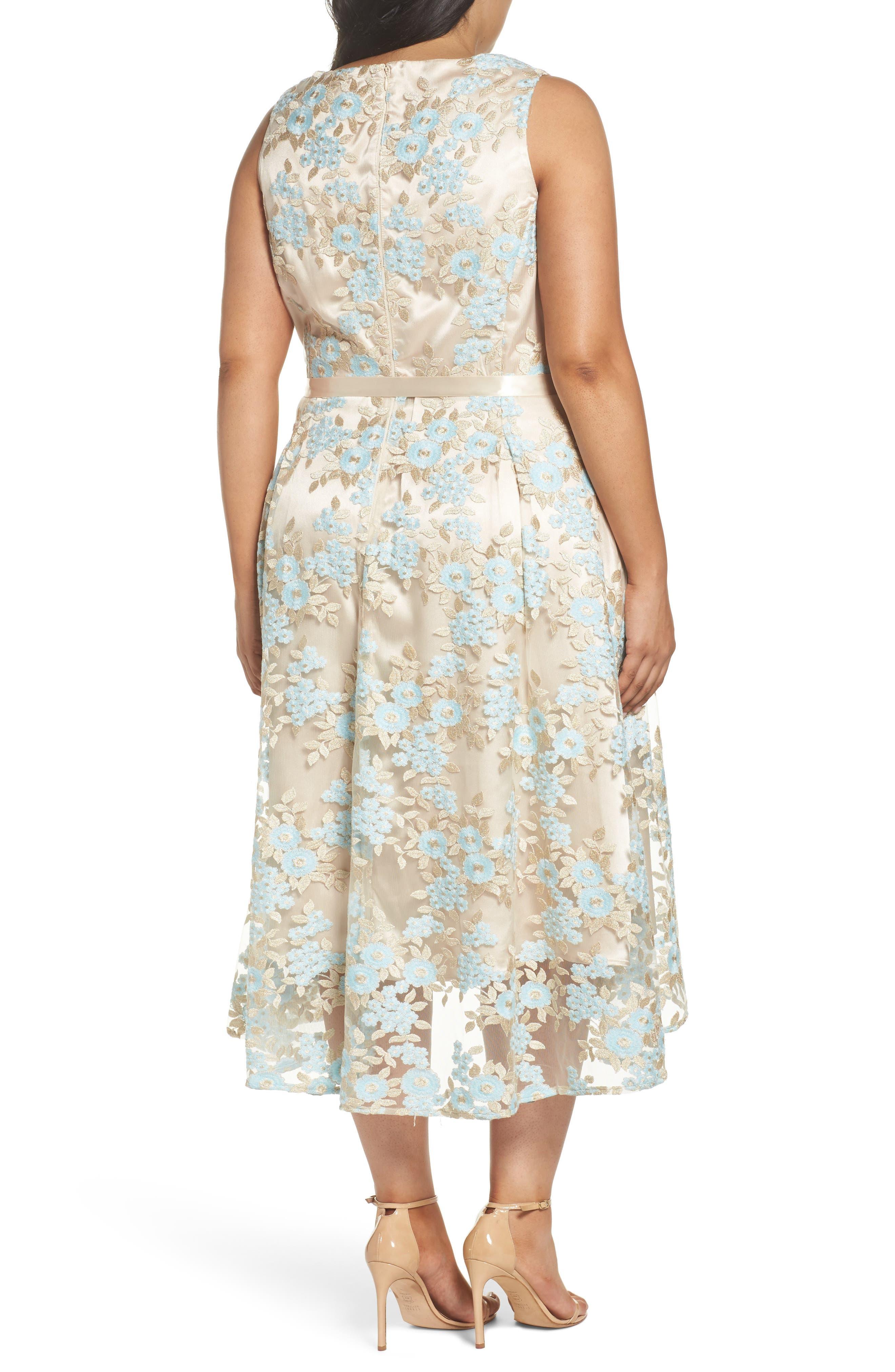 Lace Sleeveless Dress,                             Alternate thumbnail 2, color,                             434