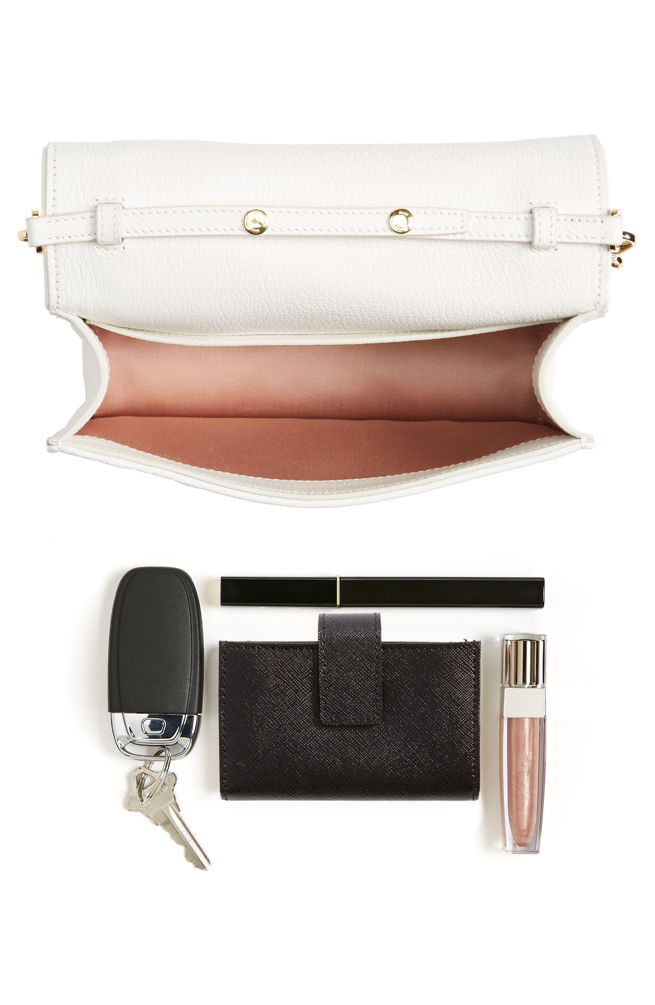 Woven Raffia & Leather Shoulder Bag,                             Alternate thumbnail 7, color,                             NATURALE/ BIANCO